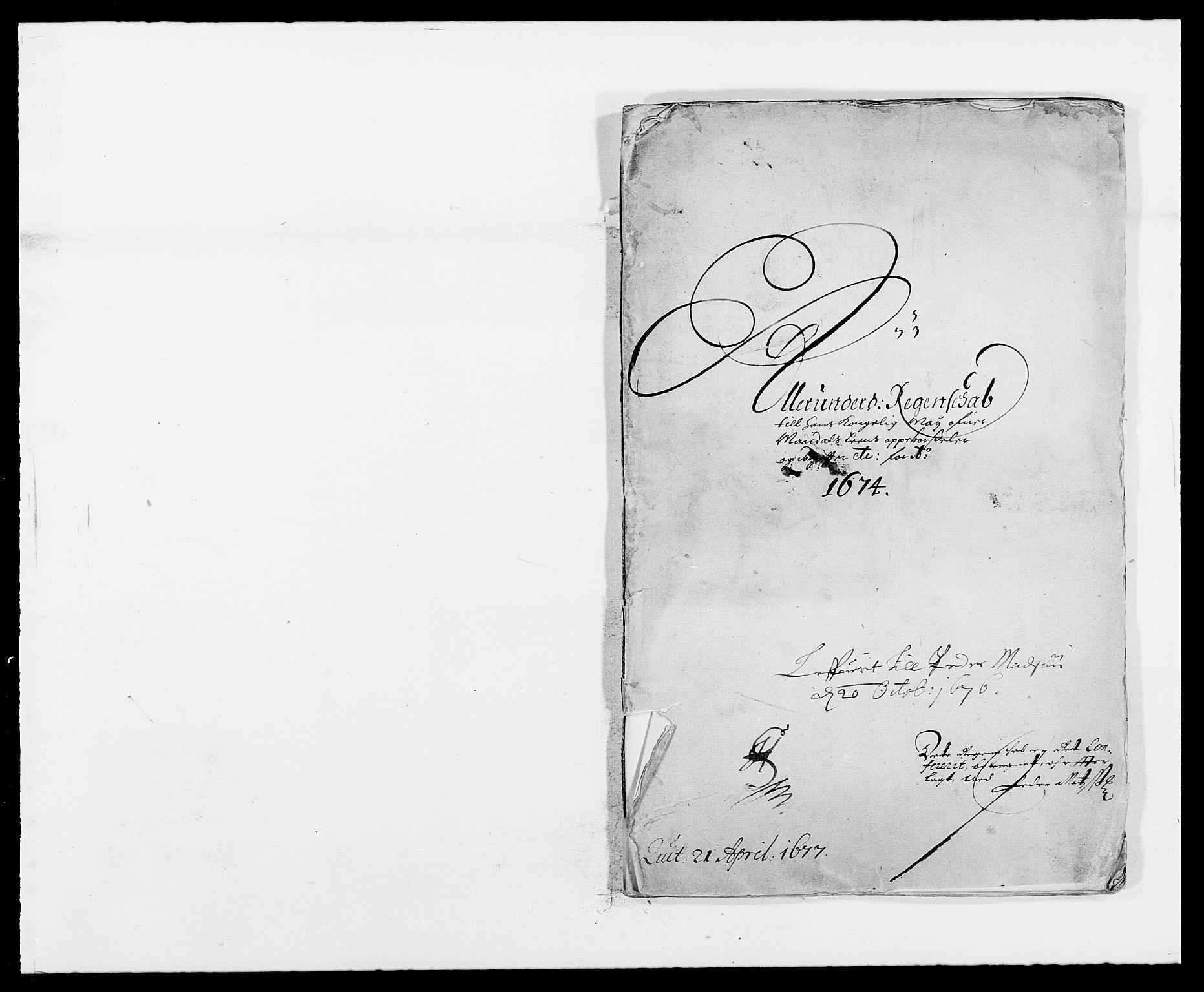 RA, Rentekammeret inntil 1814, Reviderte regnskaper, Fogderegnskap, R42/L2539: Mandal fogderi, 1671-1675, s. 168