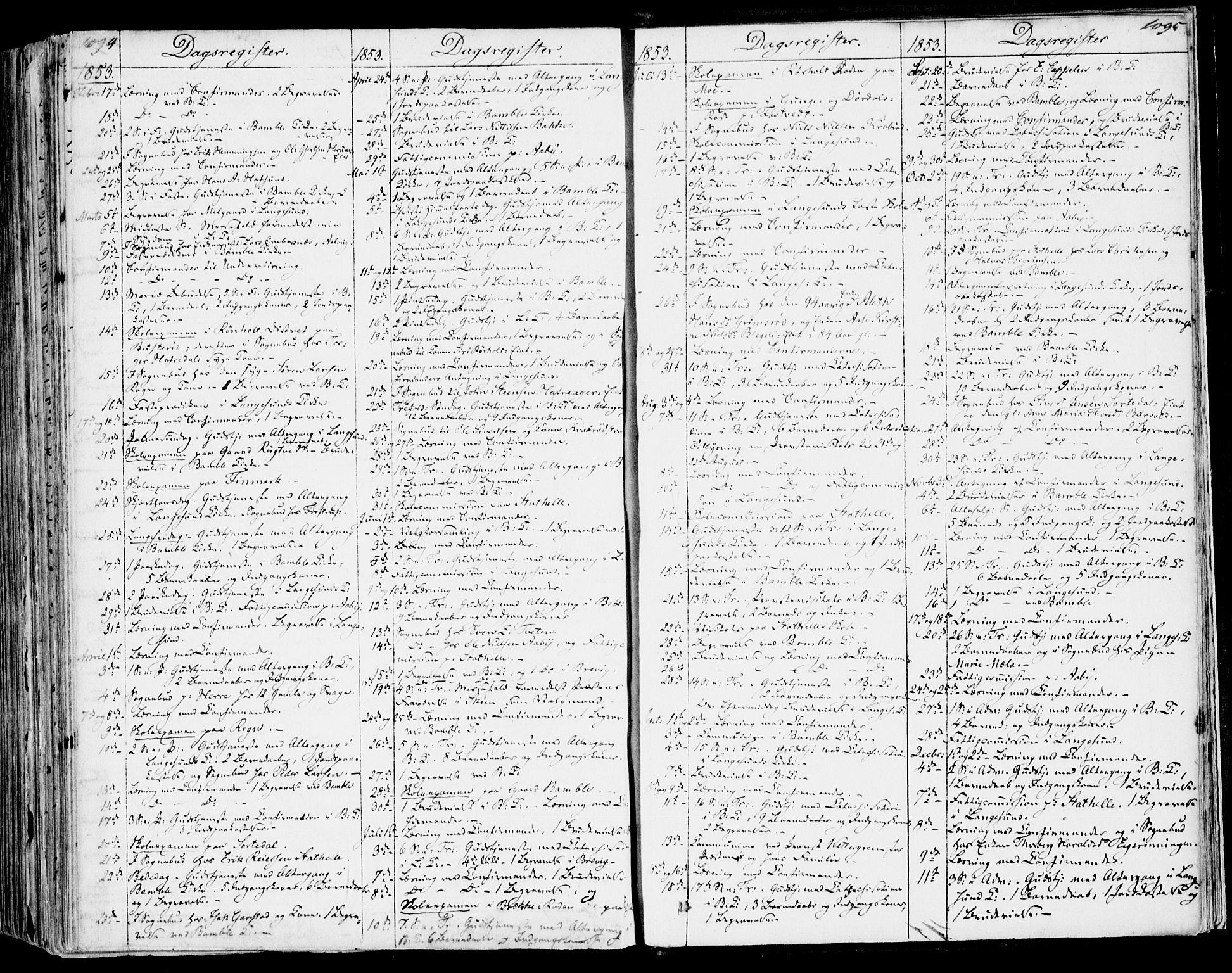 SAKO, Bamble kirkebøker, F/Fa/L0004: Ministerialbok nr. I 4, 1834-1853, s. 1094-1095