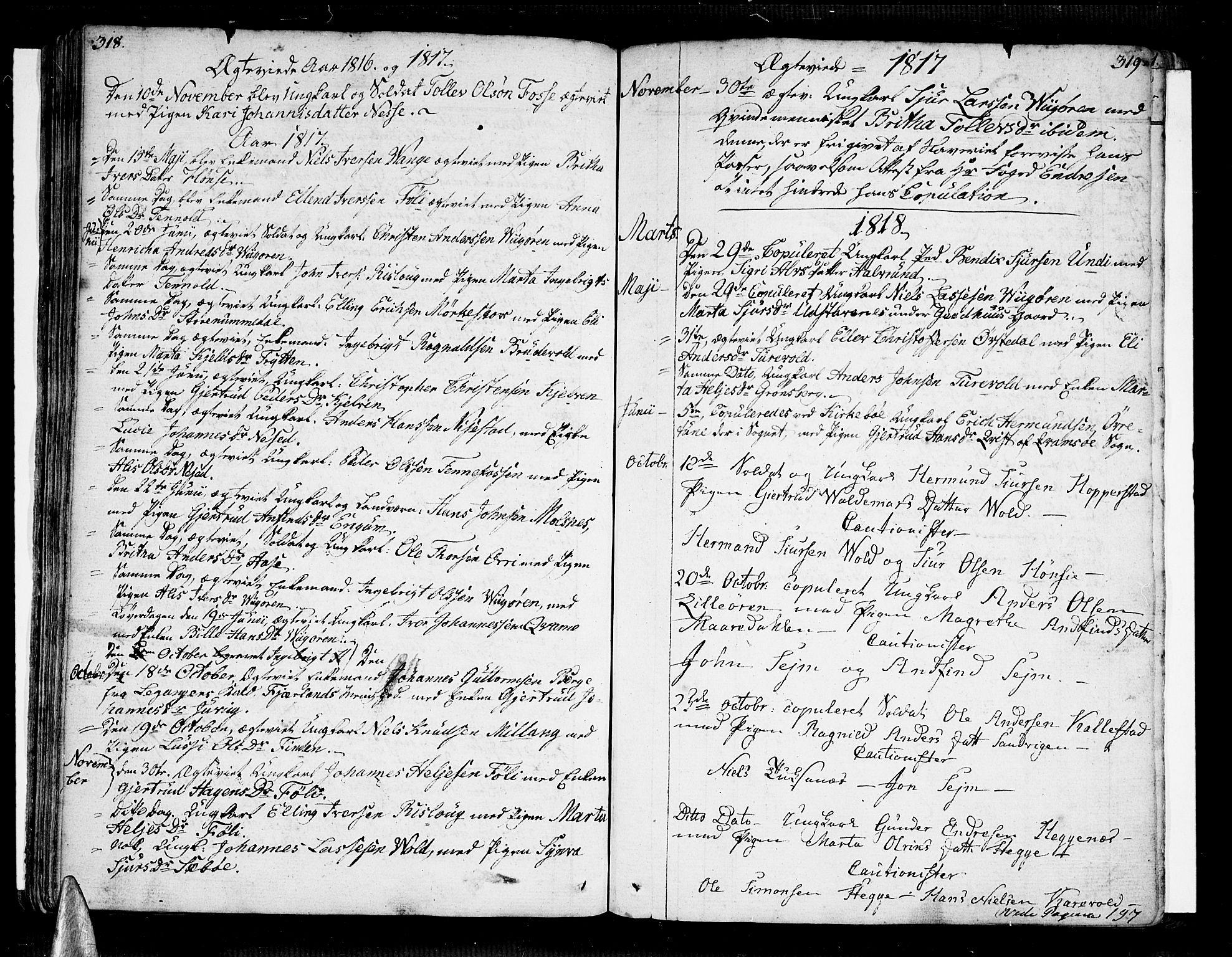 SAB, Vik Sokneprestembete, Ministerialbok nr. A 5, 1787-1820, s. 318-319