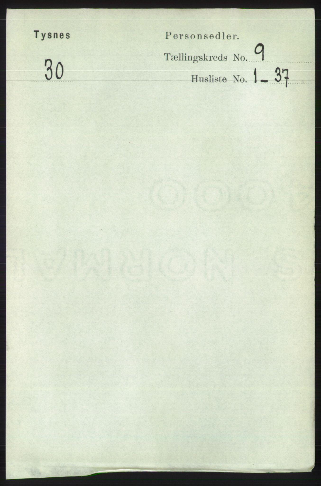 RA, Folketelling 1891 for 1223 Tysnes herred, 1891, s. 4239