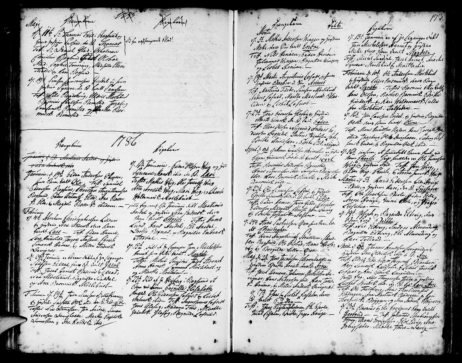 SAB, Davik Sokneprestembete, Ministerialbok nr. A 2, 1742-1816, s. 173