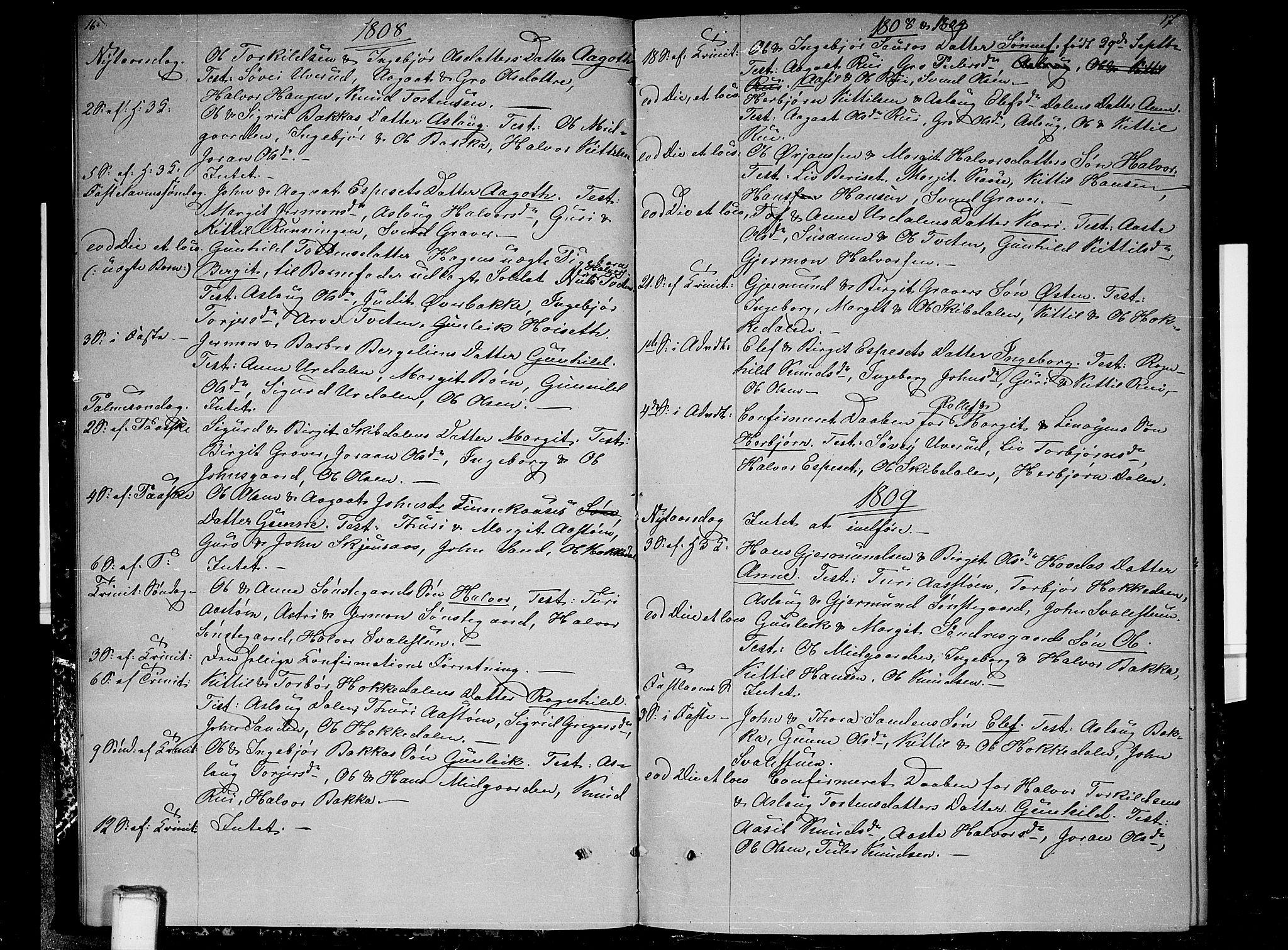 SAKO, Gransherad kirkebøker, F/Fb/L0001: Ministerialbok nr. II 1, 1800-1814, s. 16-17