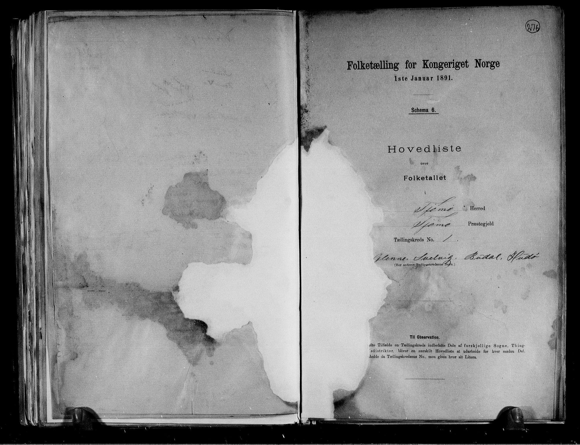 RA, Folketelling 1891 for 0723 Tjøme herred, 1891, s. 5