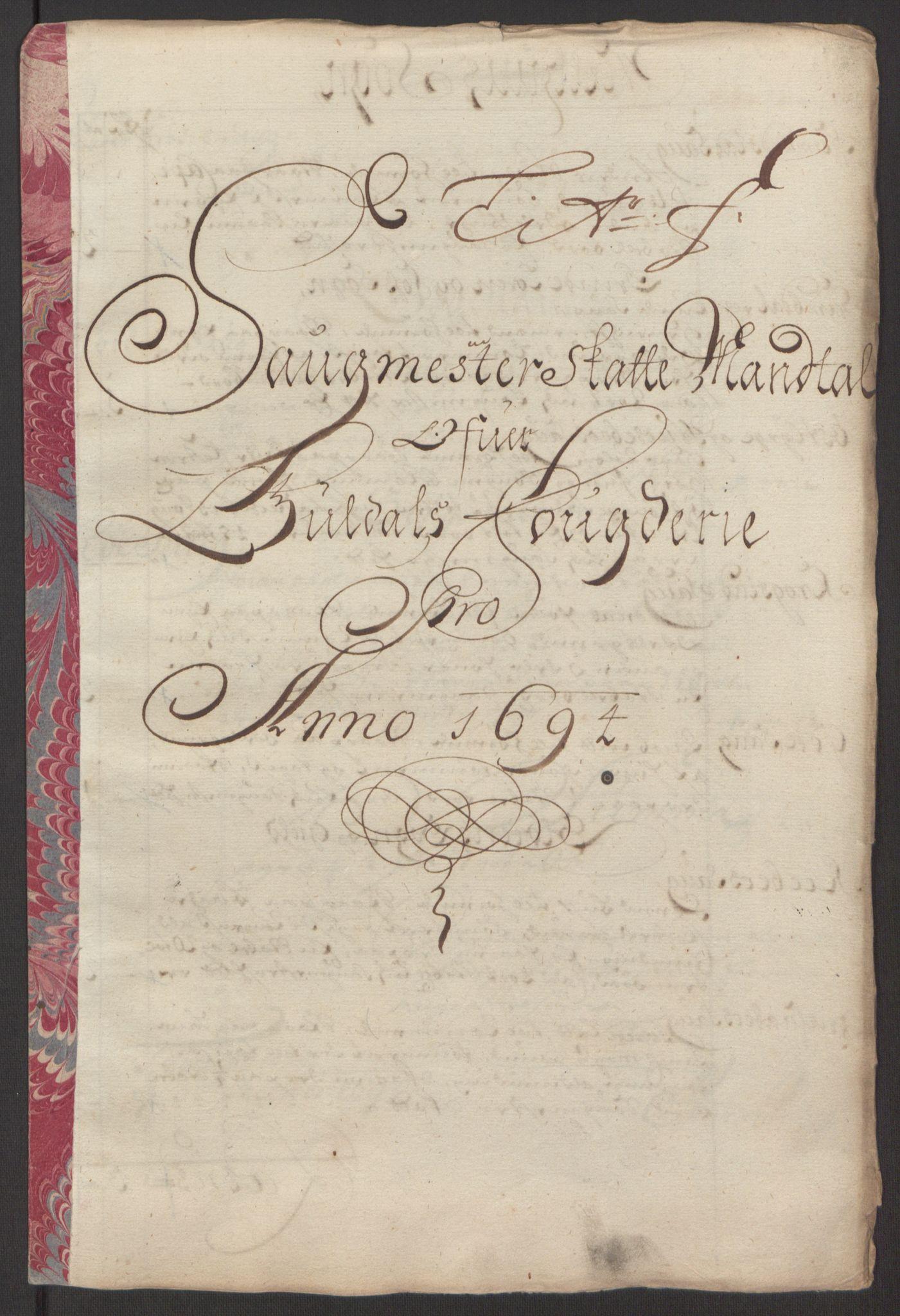 RA, Rentekammeret inntil 1814, Reviderte regnskaper, Fogderegnskap, R60/L3944: Fogderegnskap Orkdal og Gauldal, 1694, s. 360