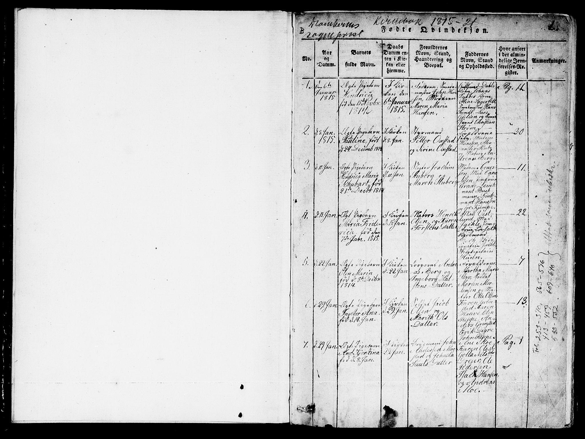 SAT, Ministerialprotokoller, klokkerbøker og fødselsregistre - Sør-Trøndelag, 601/L0043: Ministerialbok nr. 601A11, 1815-1821, s. 0-1