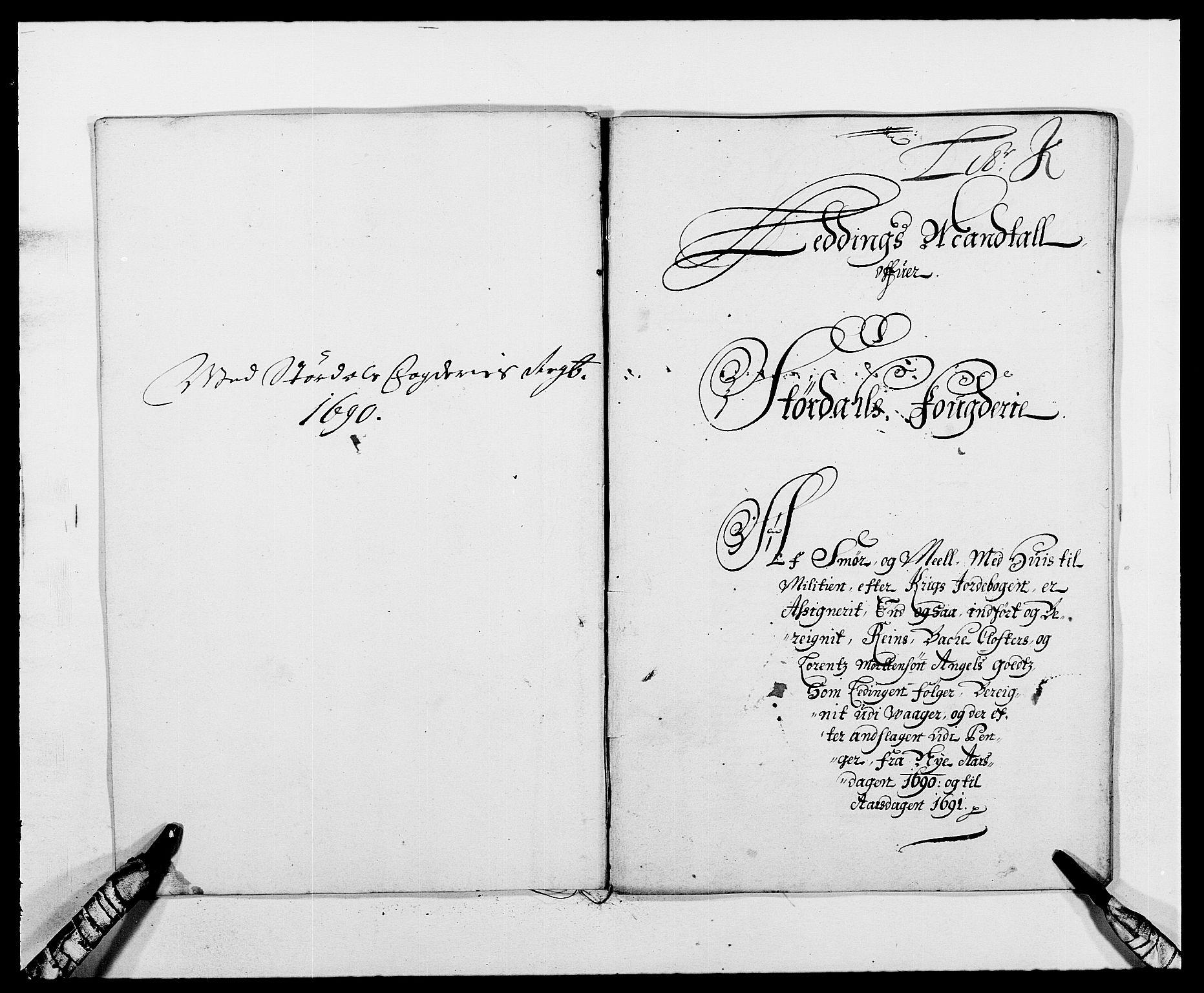 RA, Rentekammeret inntil 1814, Reviderte regnskaper, Fogderegnskap, R62/L4184: Fogderegnskap Stjørdal og Verdal, 1690-1691, s. 148