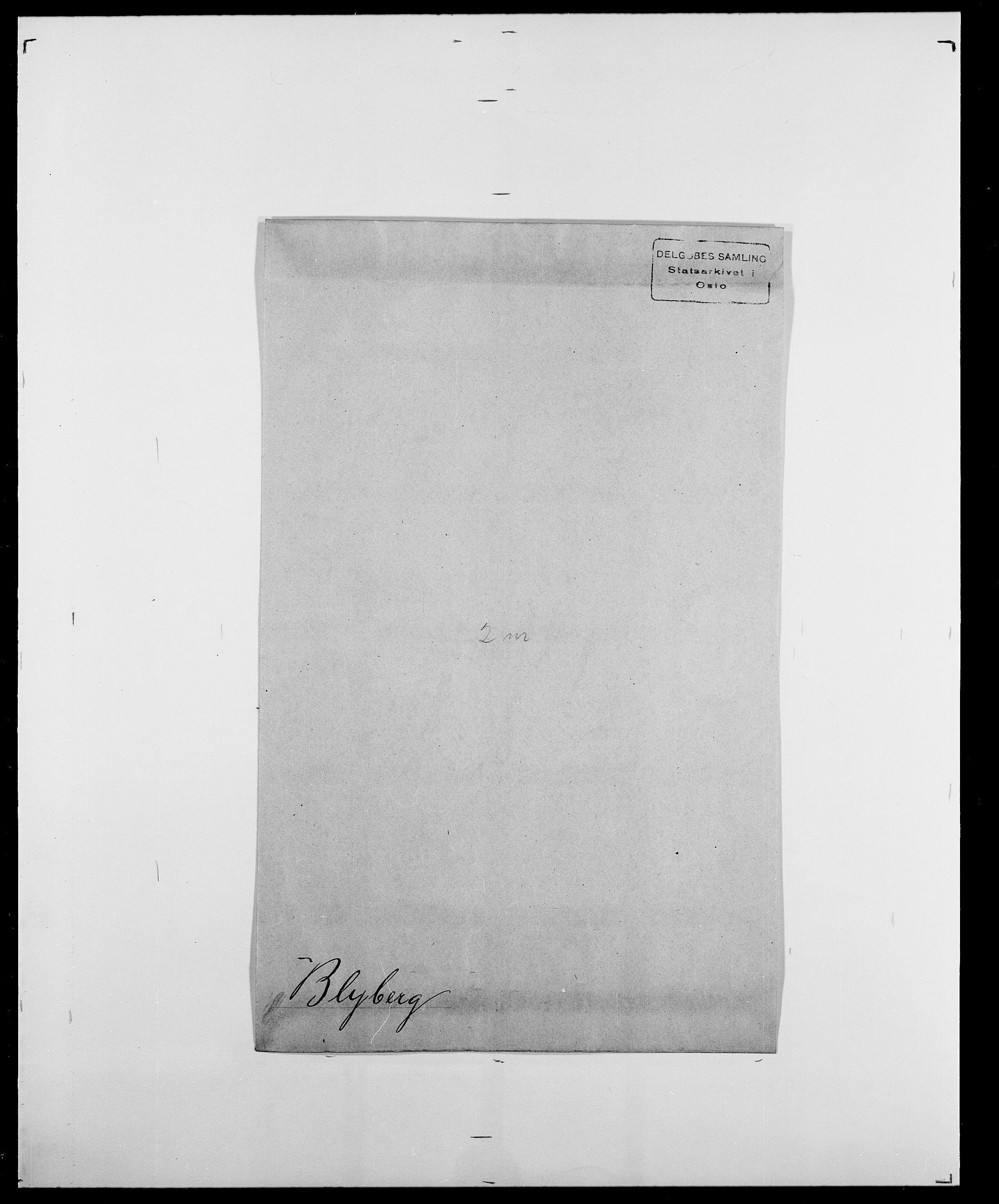 SAO, Delgobe, Charles Antoine - samling, D/Da/L0004: Bergendahl - Blære, s. 800