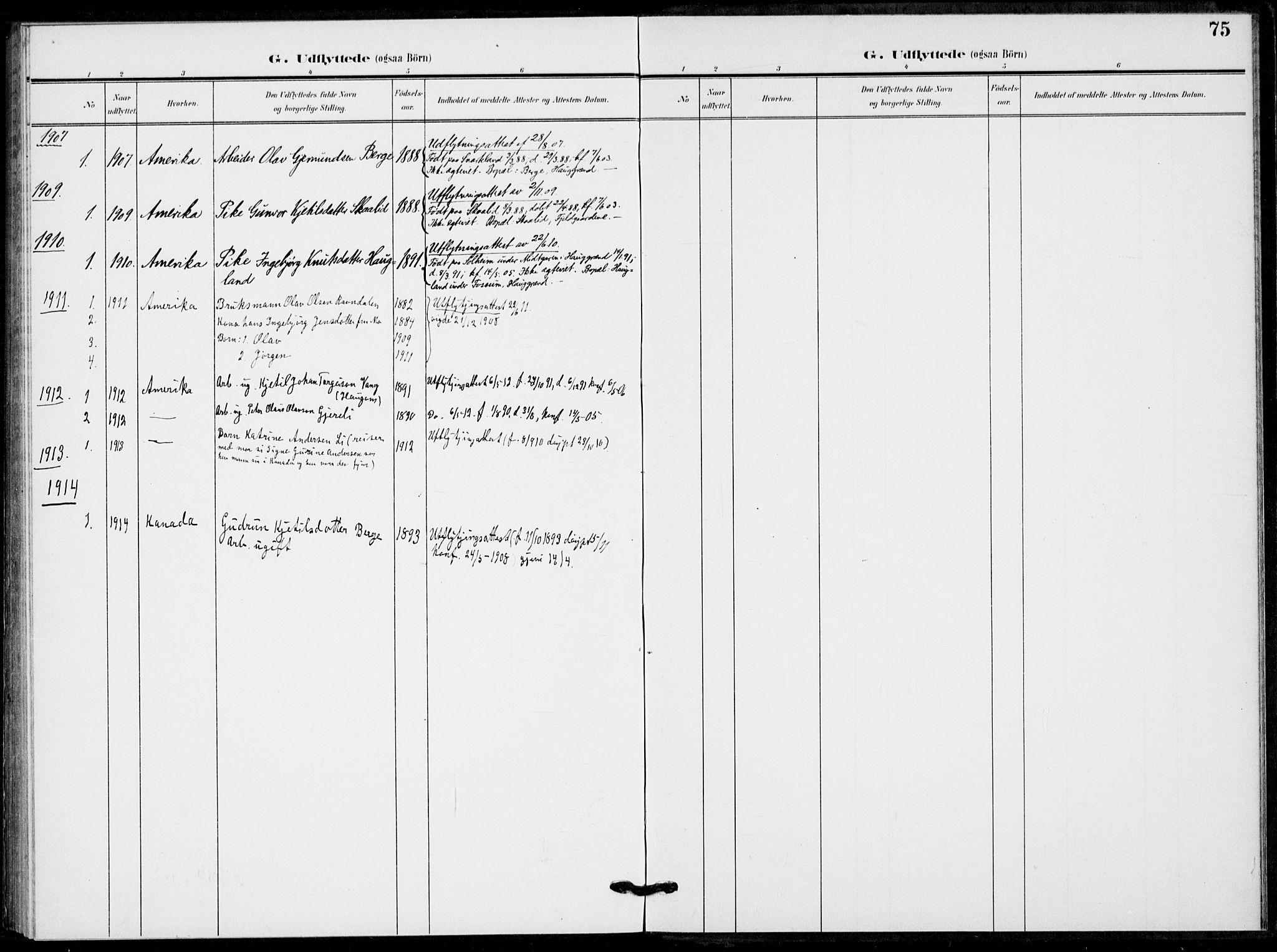 SAKO, Fyresdal kirkebøker, F/Fb/L0004: Ministerialbok nr. II 4, 1903-1920, s. 75