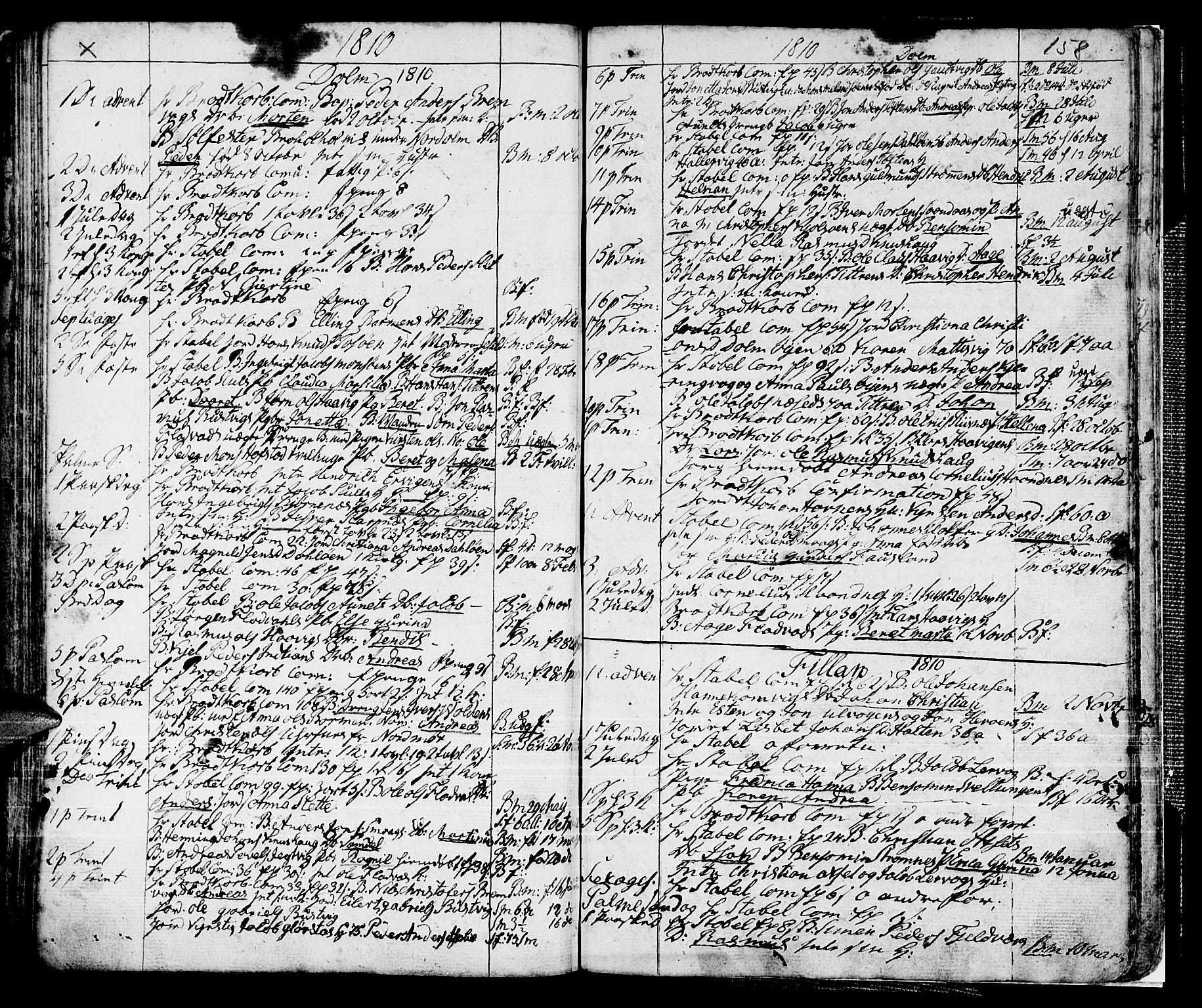 SAT, Ministerialprotokoller, klokkerbøker og fødselsregistre - Sør-Trøndelag, 634/L0526: Ministerialbok nr. 634A02, 1775-1818, s. 158