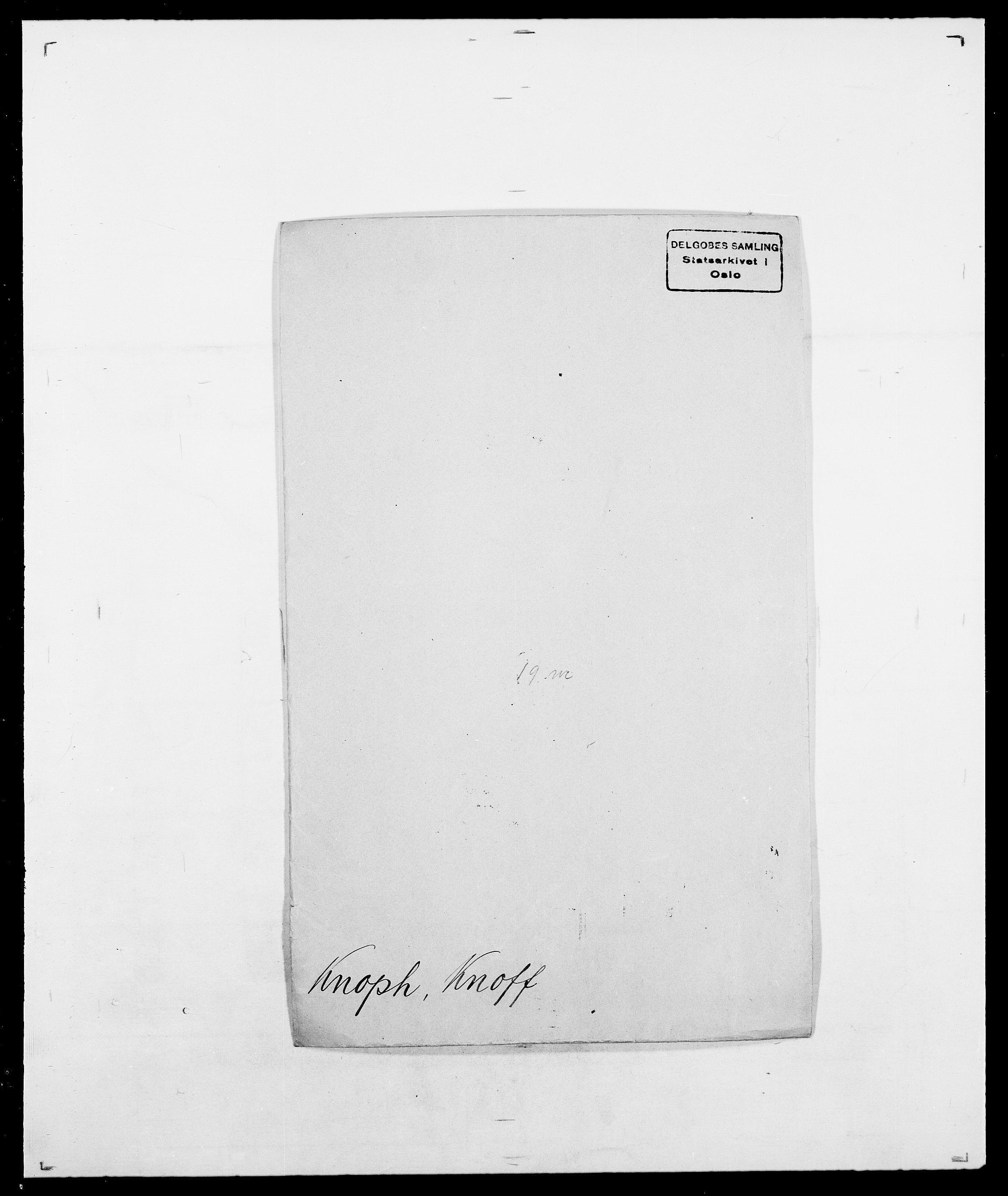 SAO, Delgobe, Charles Antoine - samling, D/Da/L0021: Klagenberg - Kristoft, s. 267