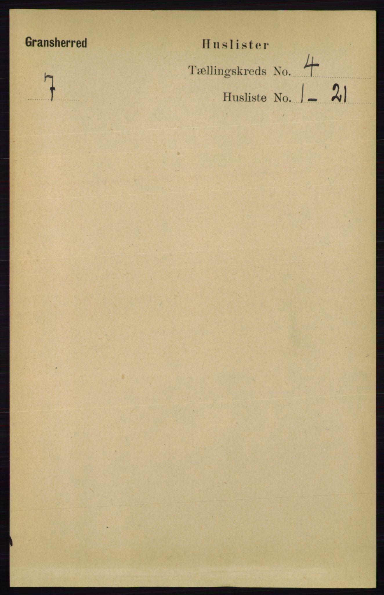 RA, Folketelling 1891 for 0824 Gransherad herred, 1891, s. 655