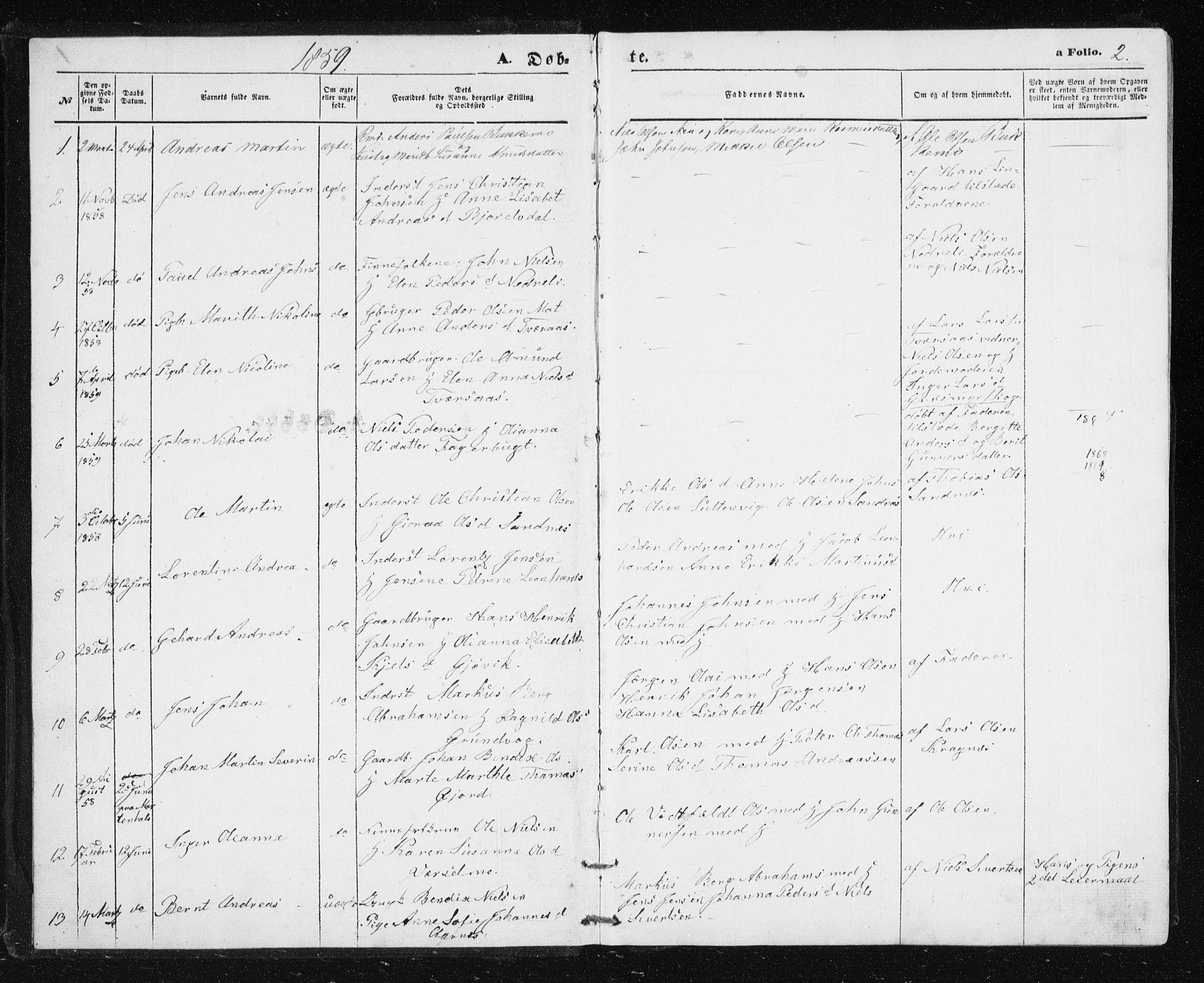SATØ, Lenvik sokneprestembete, H/Ha: Klokkerbok nr. 4, 1859-1869, s. 2
