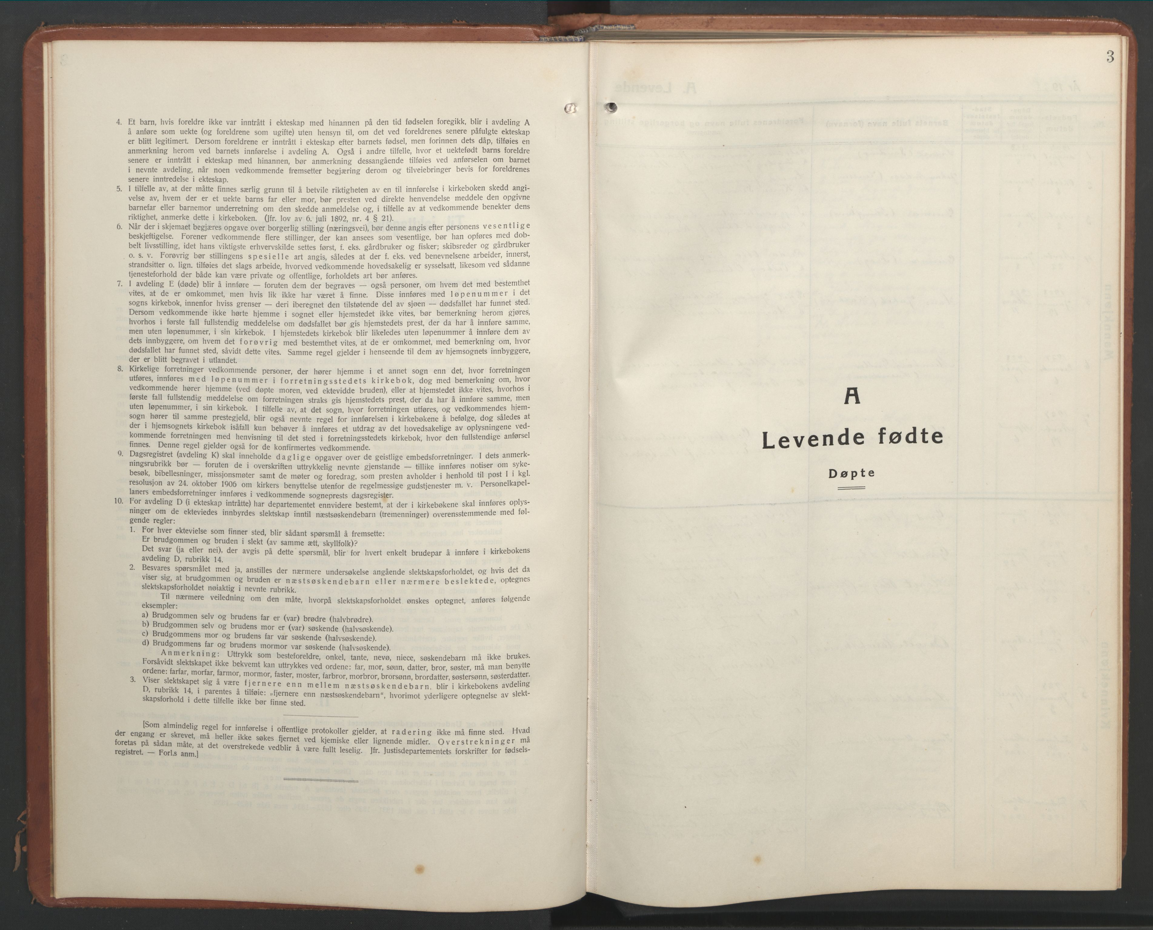 SAT, Ministerialprotokoller, klokkerbøker og fødselsregistre - Nord-Trøndelag, 768/L0583: Klokkerbok nr. 768C01, 1928-1953, s. 3