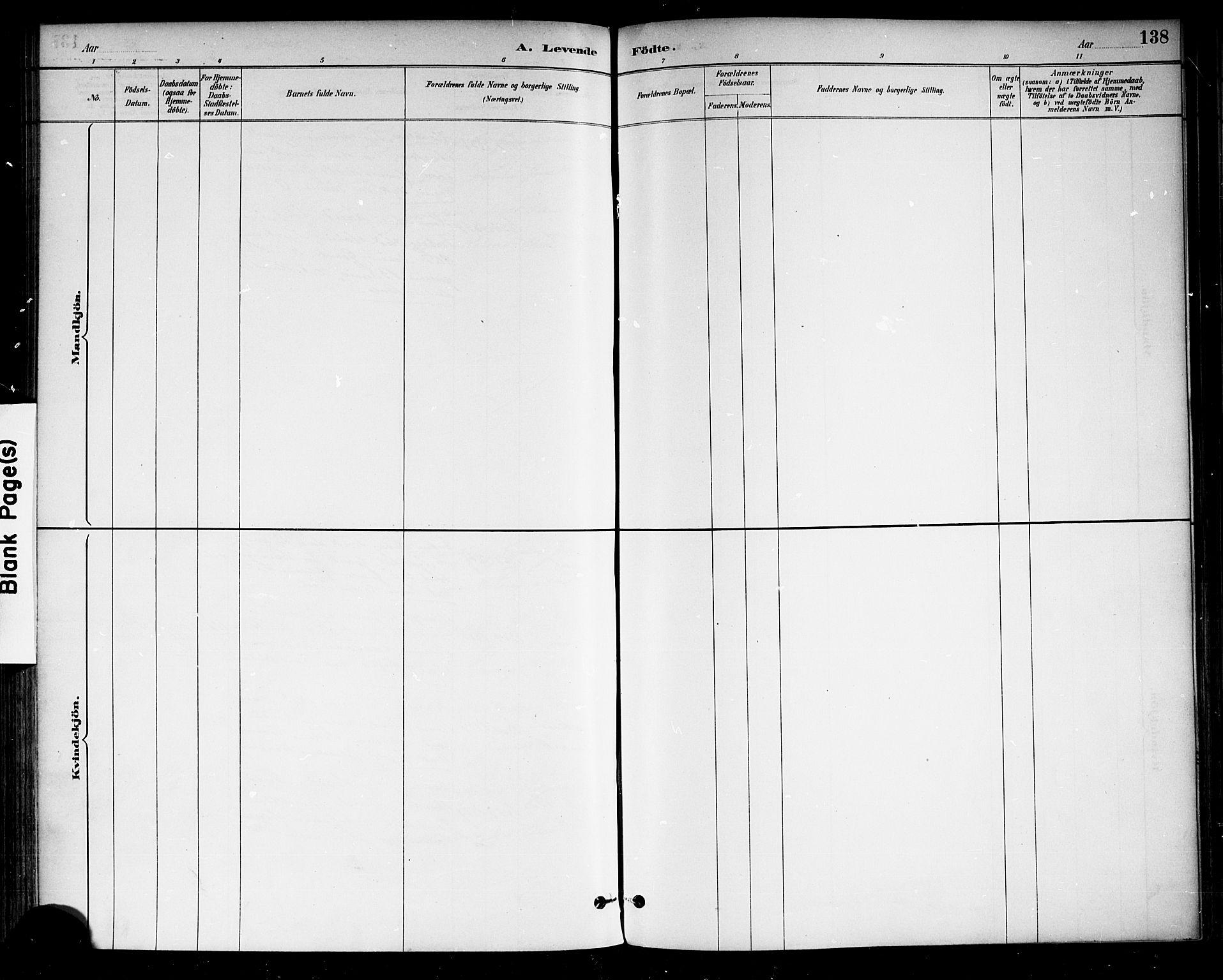 SAKO, Drangedal kirkebøker, F/Fa/L0010: Ministerialbok nr. 10 /1, 1885-1894, s. 138