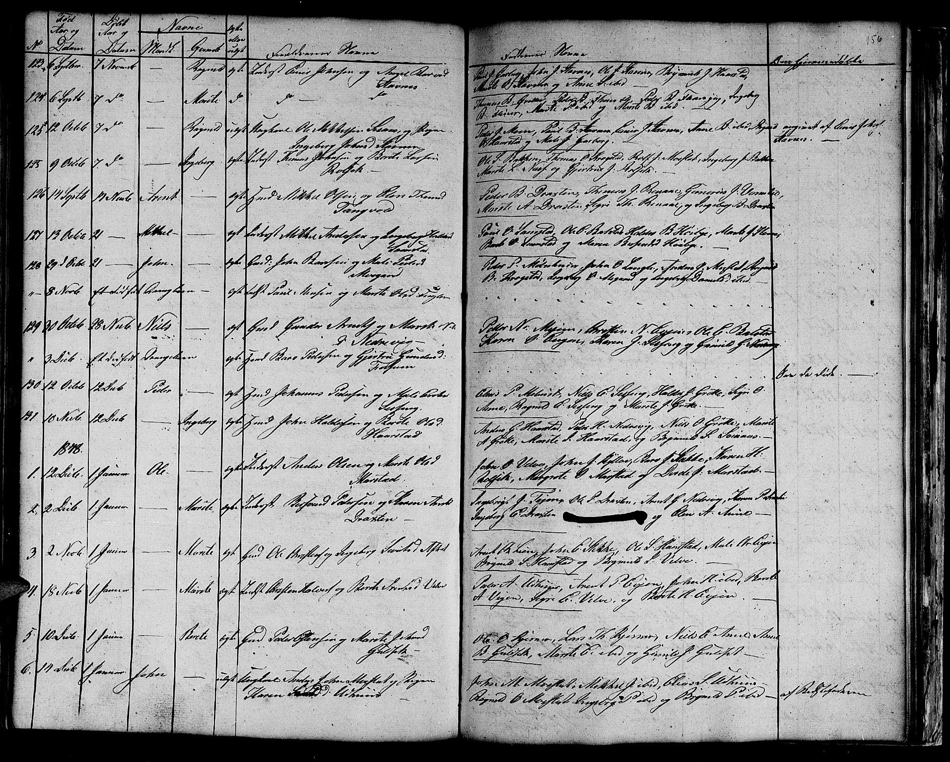 SAT, Ministerialprotokoller, klokkerbøker og fødselsregistre - Sør-Trøndelag, 695/L1154: Klokkerbok nr. 695C05, 1842-1858, s. 156