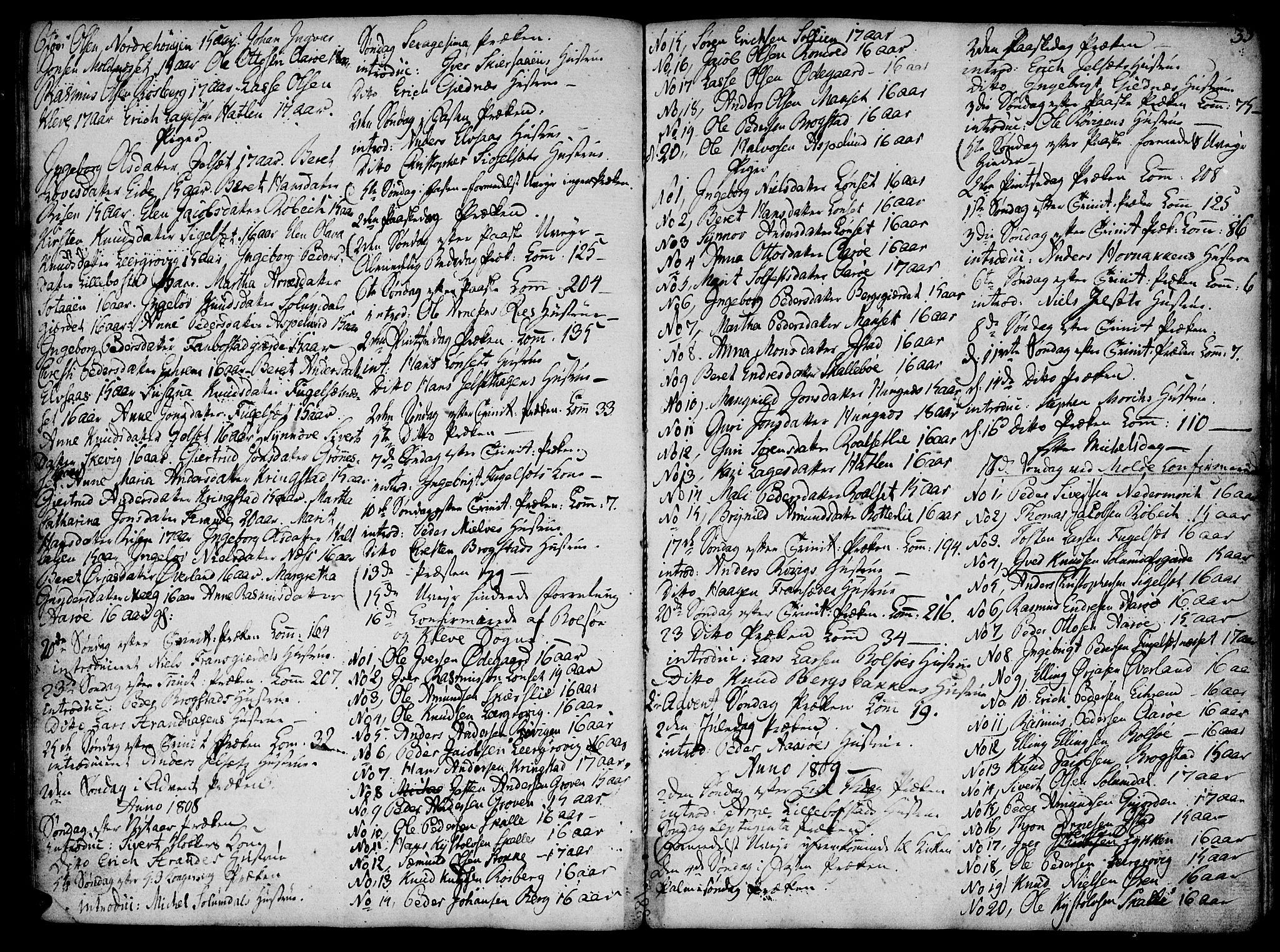 SAT, Ministerialprotokoller, klokkerbøker og fødselsregistre - Møre og Romsdal, 555/L0649: Ministerialbok nr. 555A02 /1, 1795-1821, s. 33