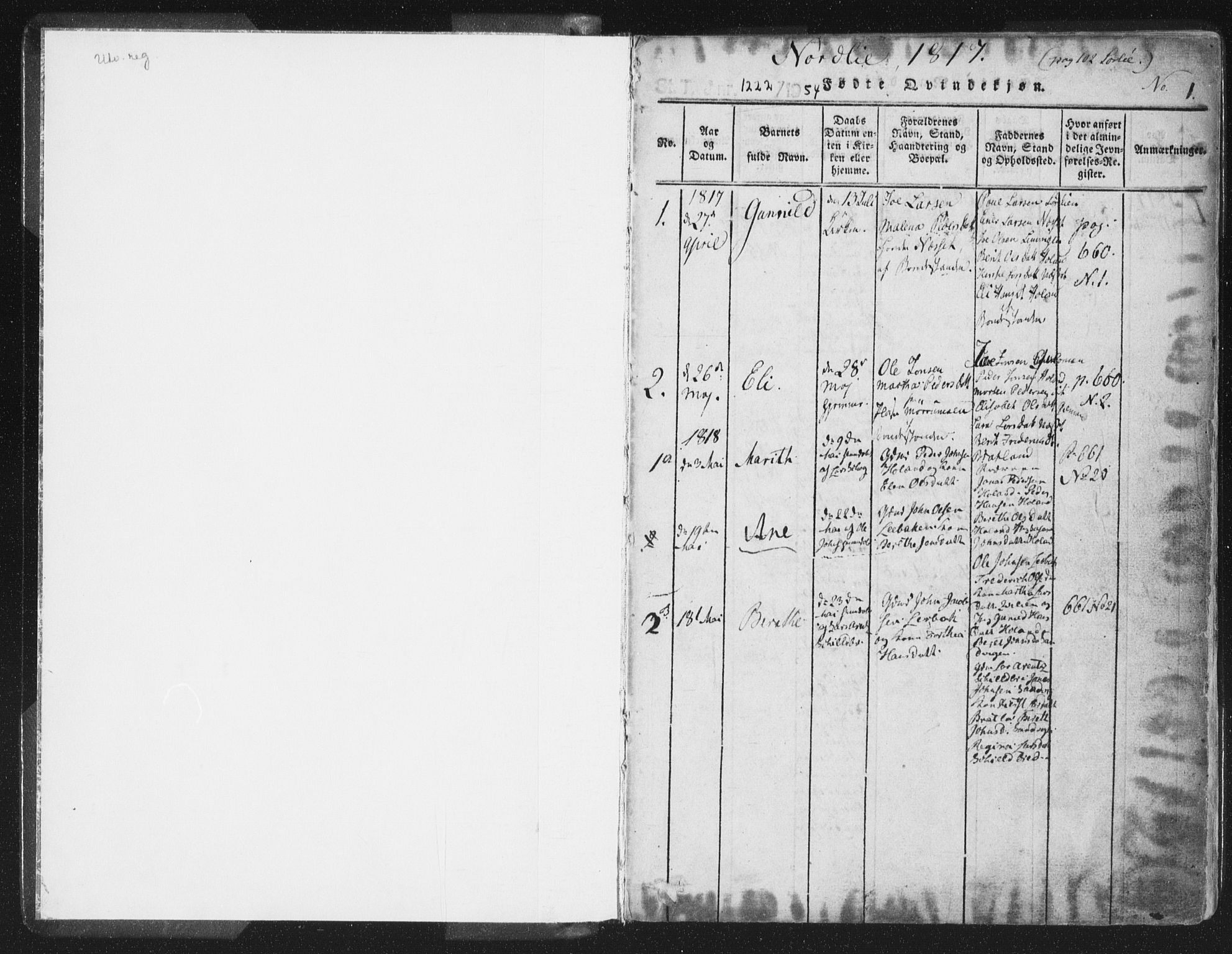 SAT, Ministerialprotokoller, klokkerbøker og fødselsregistre - Nord-Trøndelag, 755/L0491: Ministerialbok nr. 755A01 /1, 1817-1864, s. 0-1