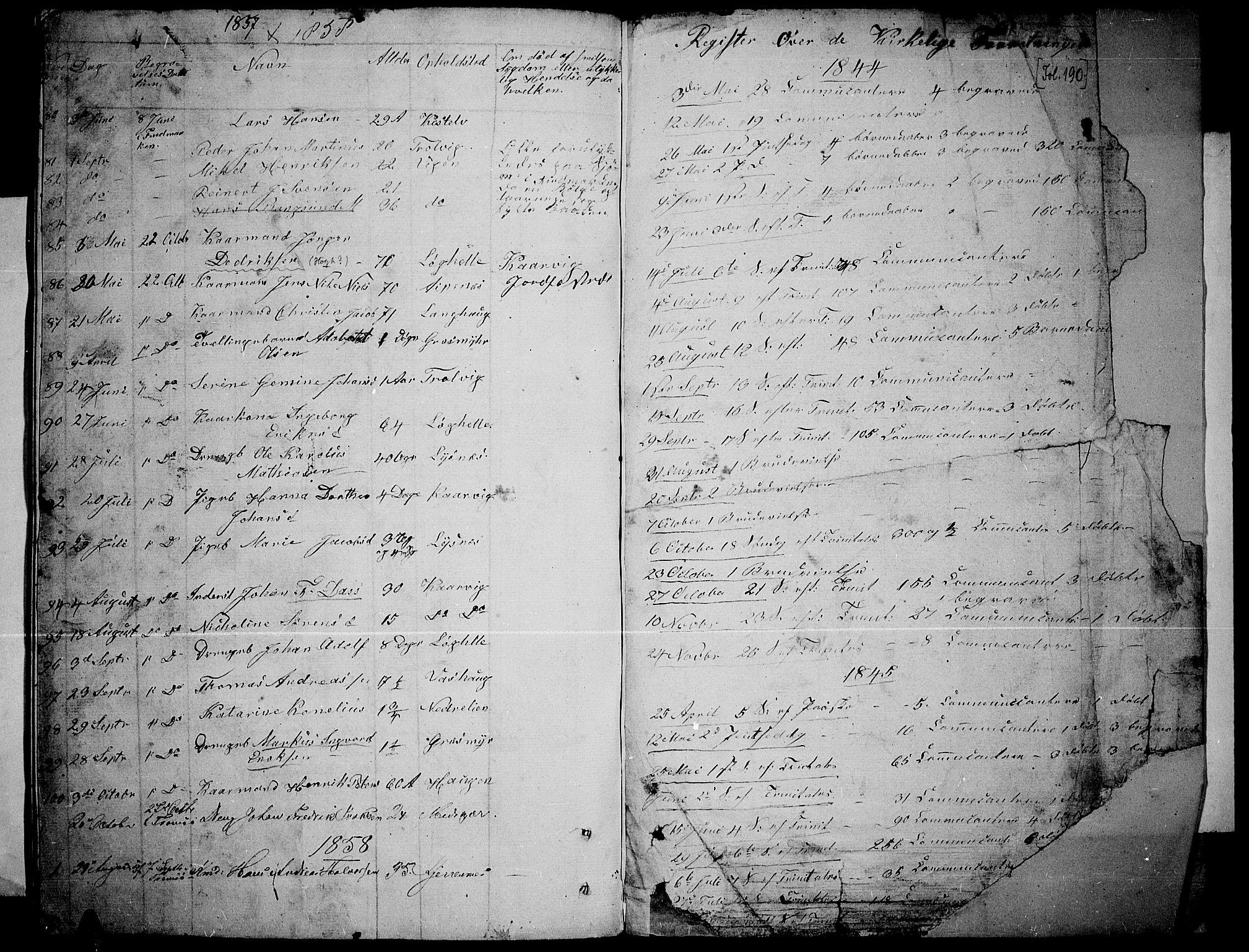 SATØ, Lenvik sokneprestembete, H/Ha: Klokkerbok nr. 3, 1844-1858, s. 184