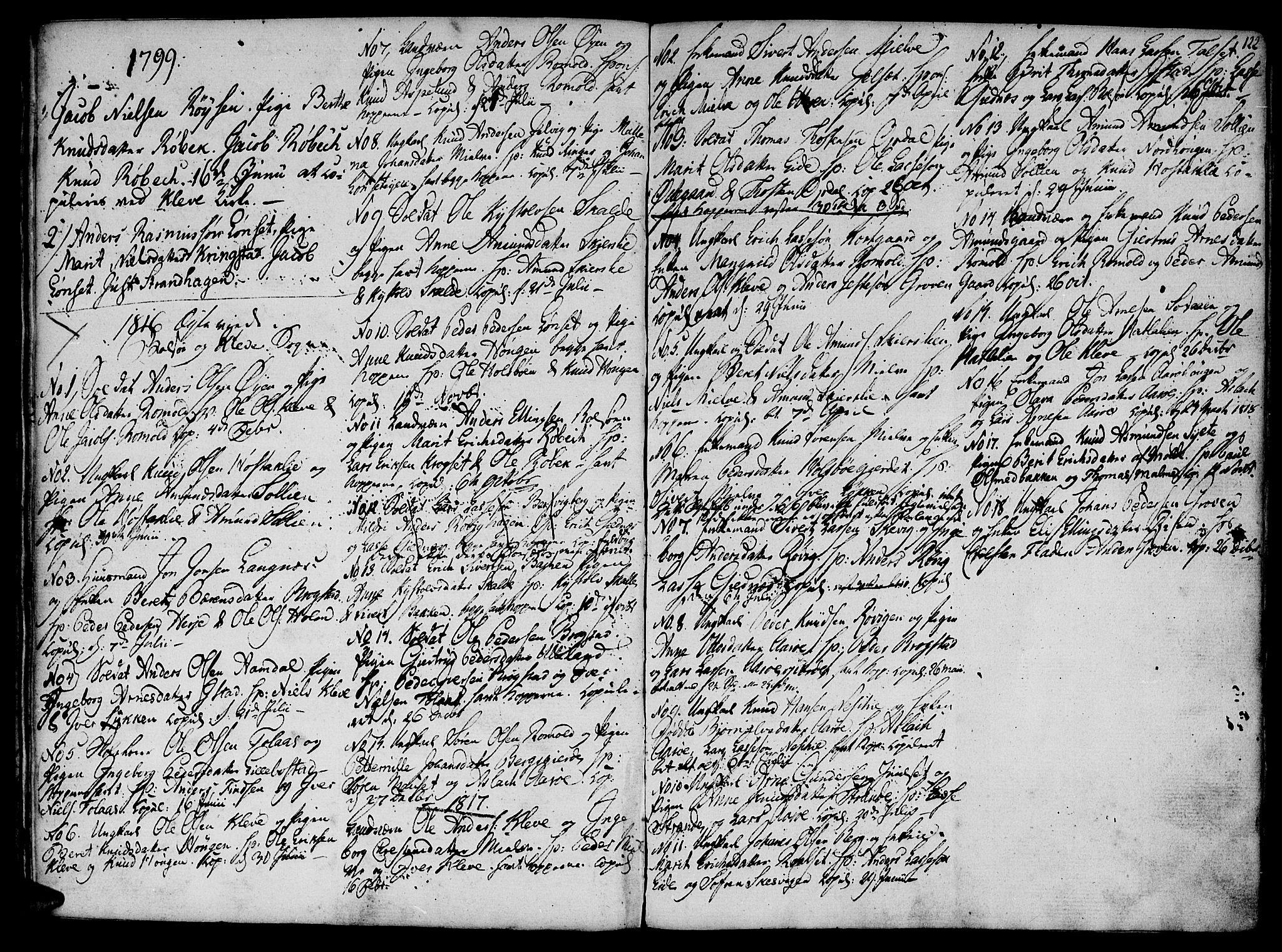 SAT, Ministerialprotokoller, klokkerbøker og fødselsregistre - Møre og Romsdal, 555/L0649: Ministerialbok nr. 555A02 /1, 1795-1821, s. 122