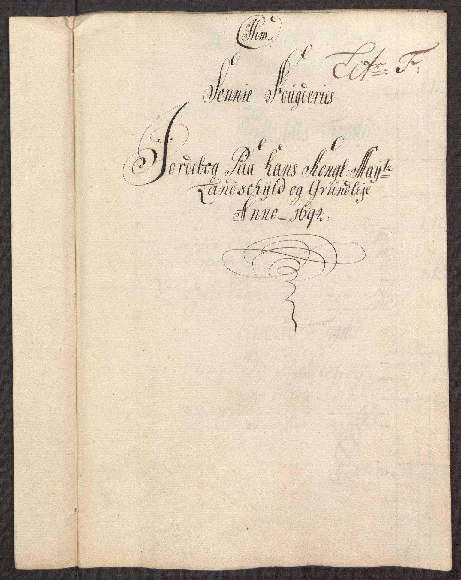 RA, Rentekammeret inntil 1814, Reviderte regnskaper, Fogderegnskap, R68/L4753: Fogderegnskap Senja og Troms, 1694-1696, s. 77