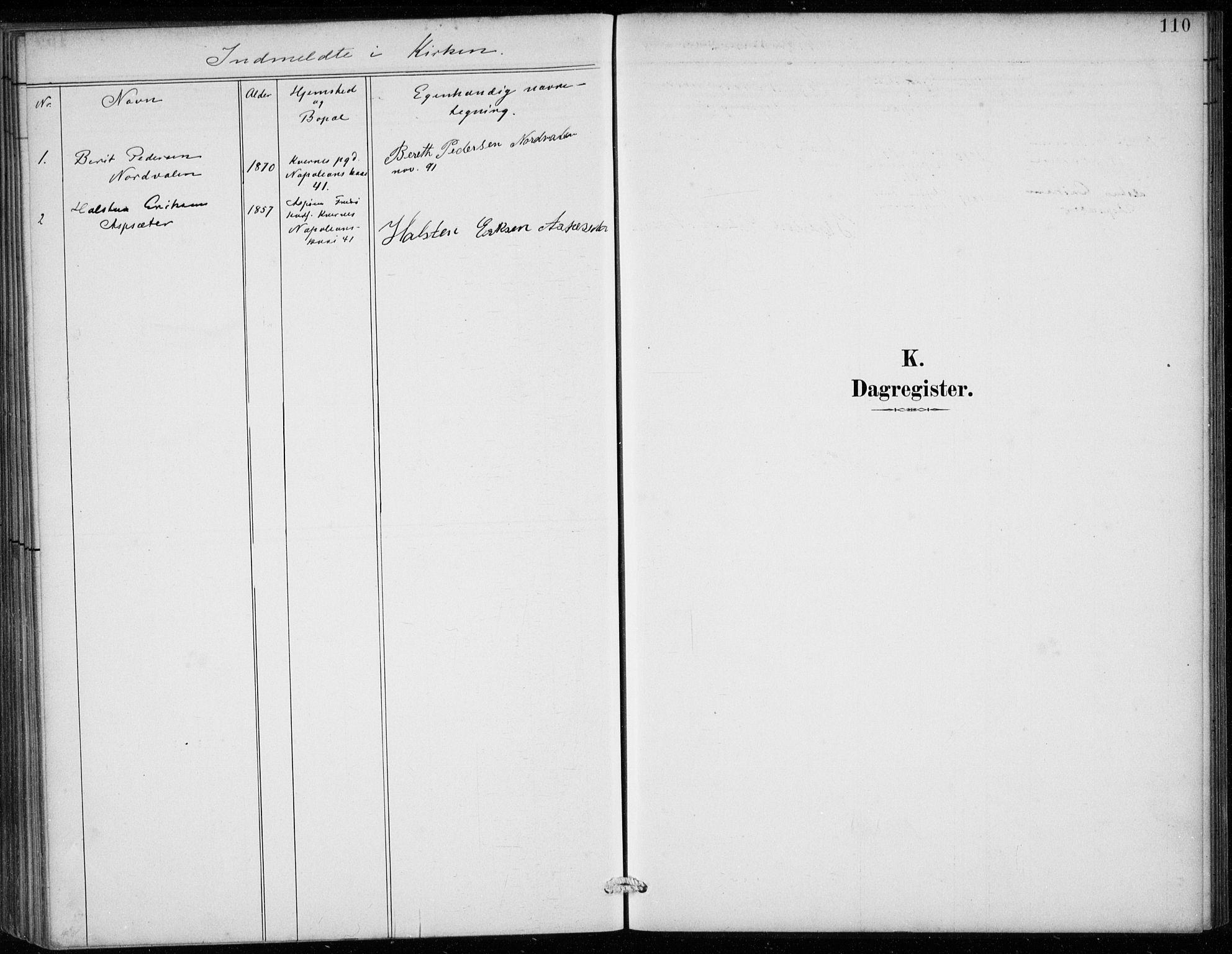 SAB, Den Norske Sjømannsmisjon i utlandet*, Ministerialbok nr. A 2, 1887-1913, s. 110