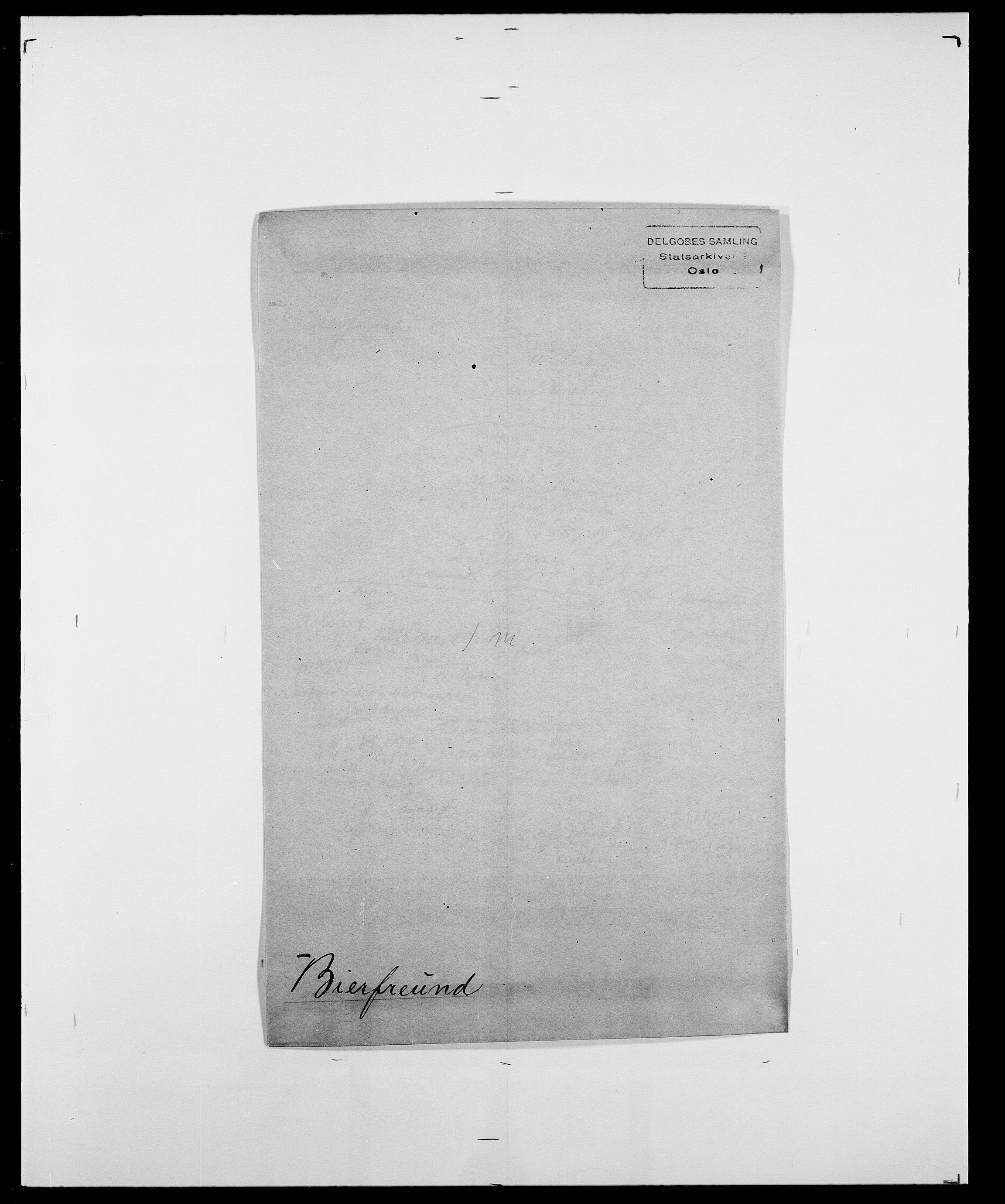 SAO, Delgobe, Charles Antoine - samling, D/Da/L0004: Bergendahl - Blære, s. 251