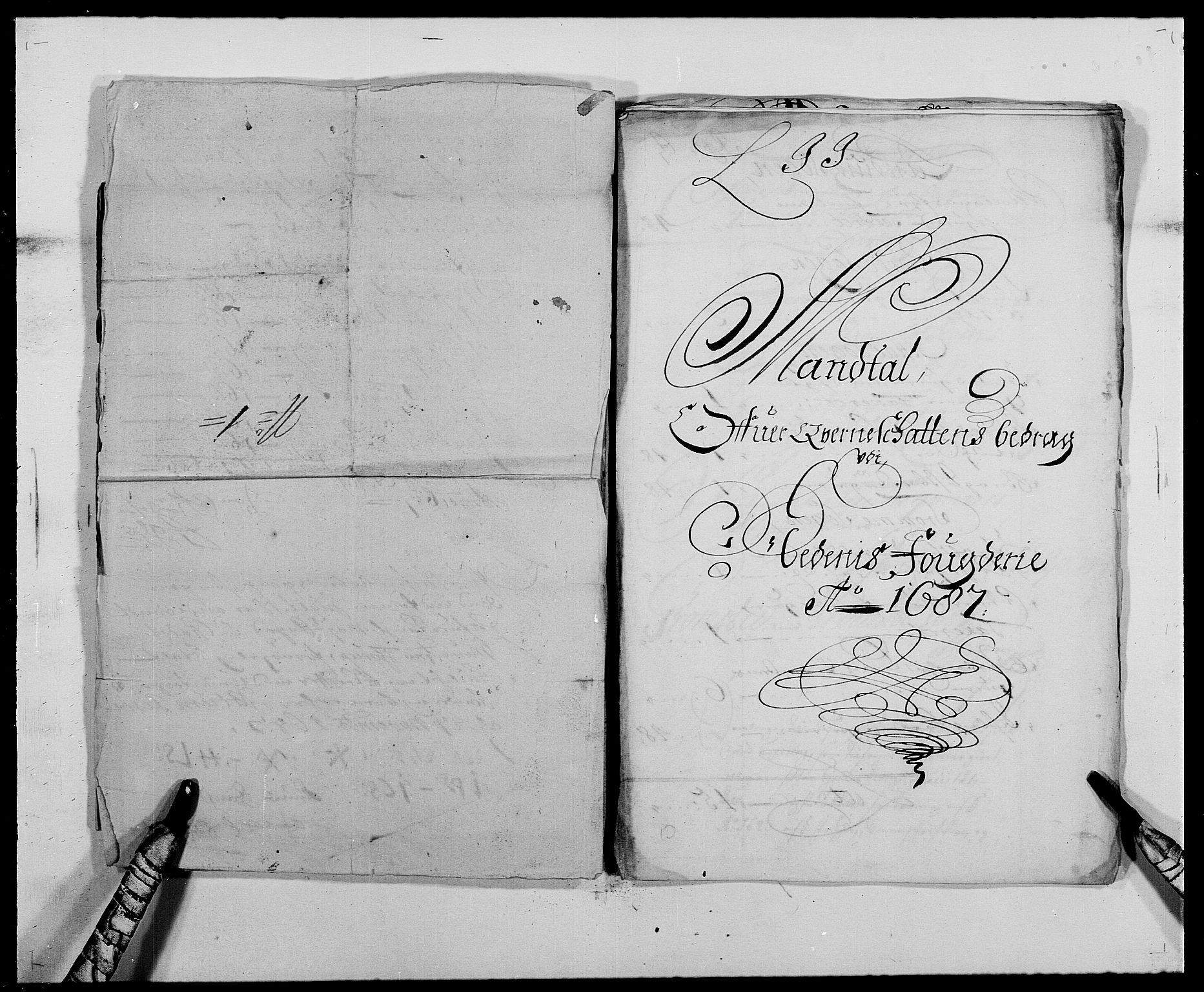 RA, Rentekammeret inntil 1814, Reviderte regnskaper, Fogderegnskap, R39/L2309: Fogderegnskap Nedenes, 1684-1689, s. 93