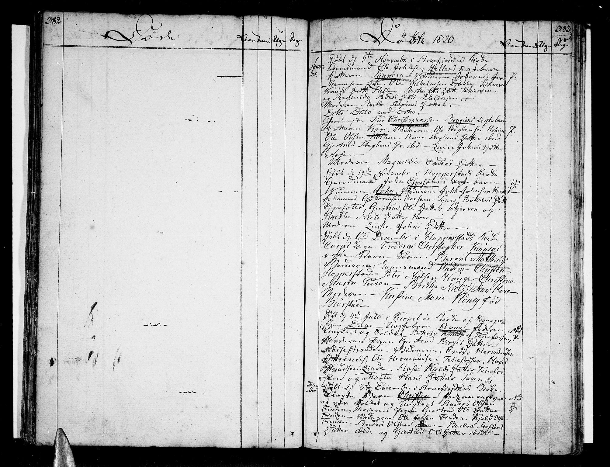 SAB, Vik Sokneprestembete, Ministerialbok nr. A 5, 1787-1820, s. 382-383