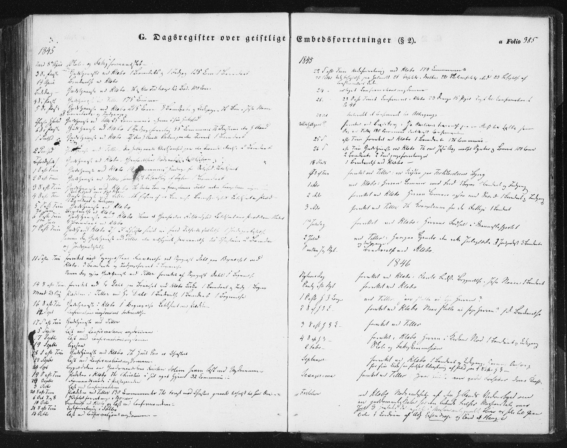 SAT, Ministerialprotokoller, klokkerbøker og fødselsregistre - Sør-Trøndelag, 618/L0441: Ministerialbok nr. 618A05, 1843-1862, s. 385