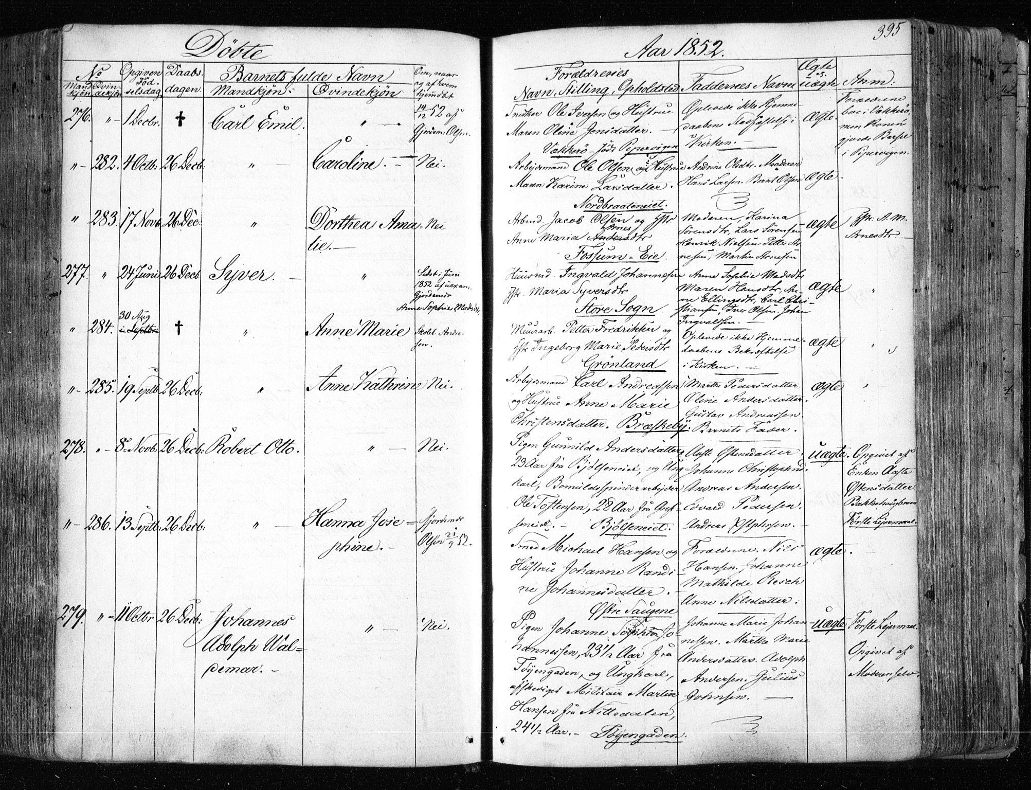 SAO, Aker prestekontor kirkebøker, F/L0019: Ministerialbok nr. 19, 1842-1852, s. 395