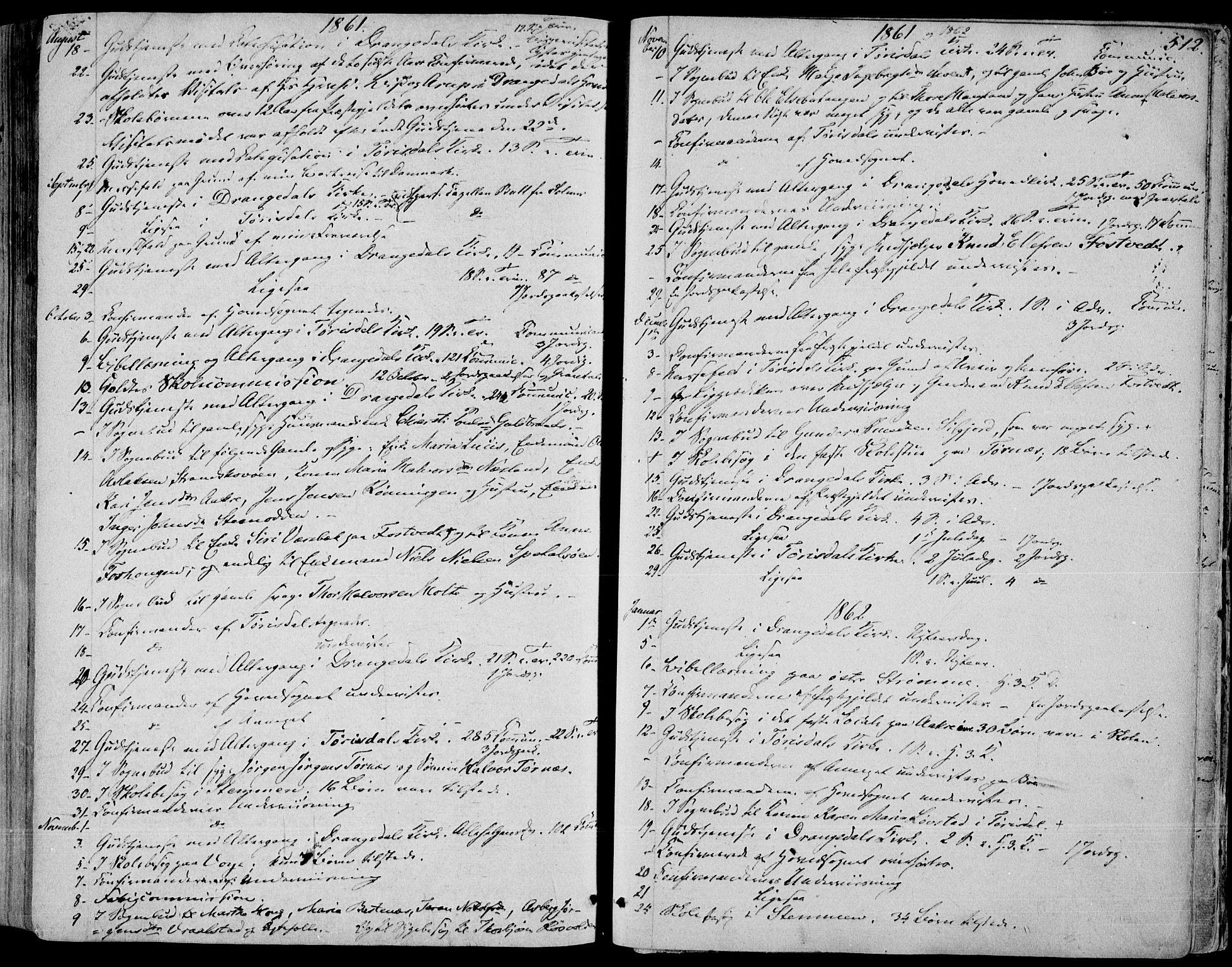 SAKO, Drangedal kirkebøker, F/Fa/L0008: Ministerialbok nr. 8, 1857-1871, s. 512