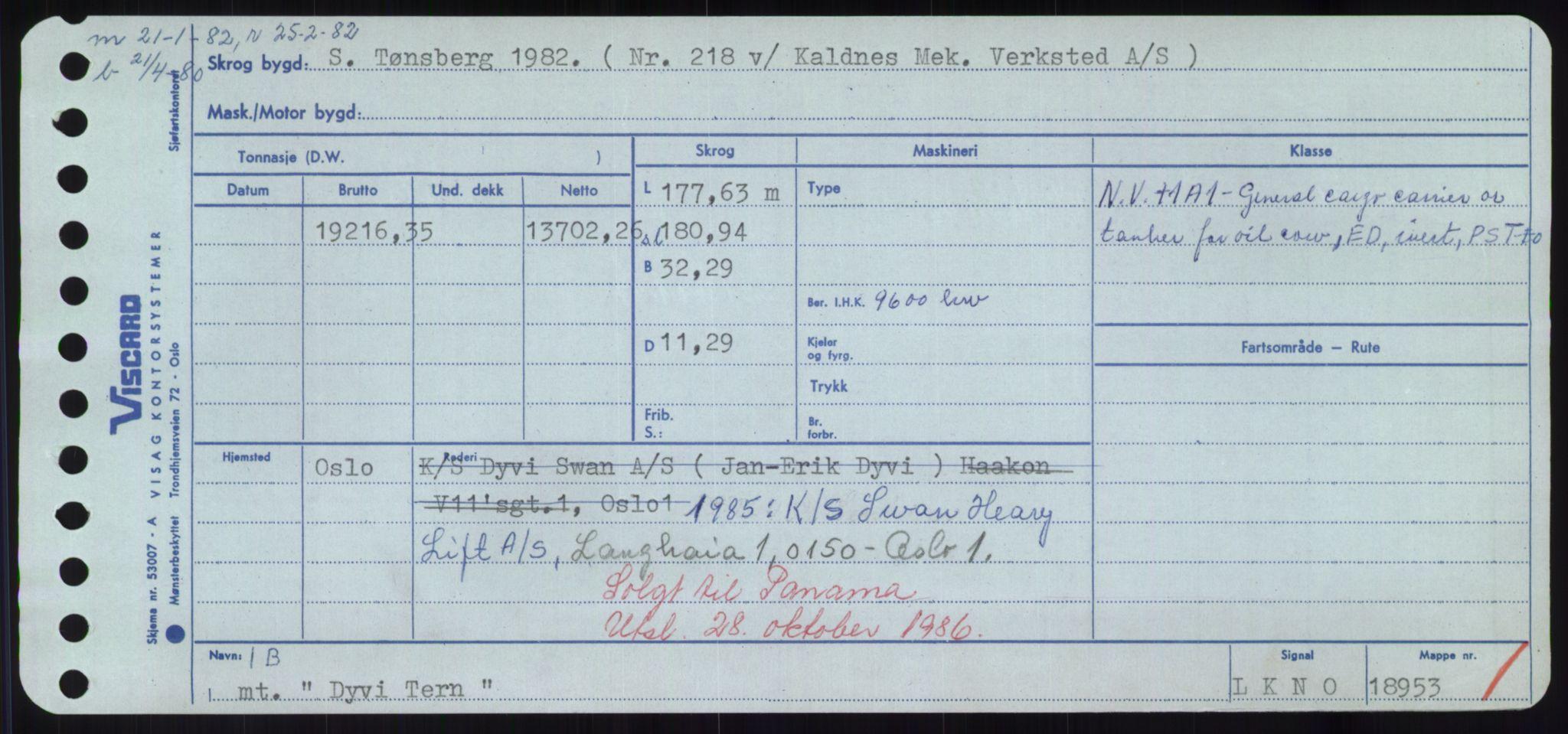 RA, Sjøfartsdirektoratet med forløpere, Skipsmålingen, H/Hd/L0008: Fartøy, C-D, s. 757