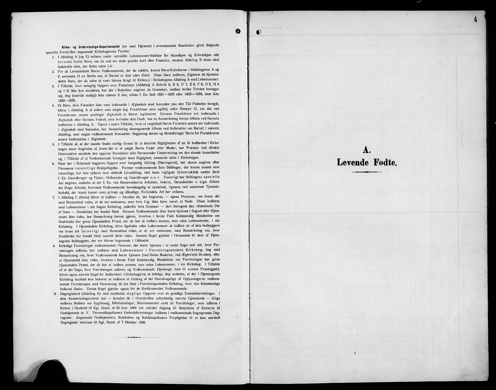 SAB, Hyllestad Sokneprestembete, Klokkerbok nr. A 3, 1906-1925, s. 4
