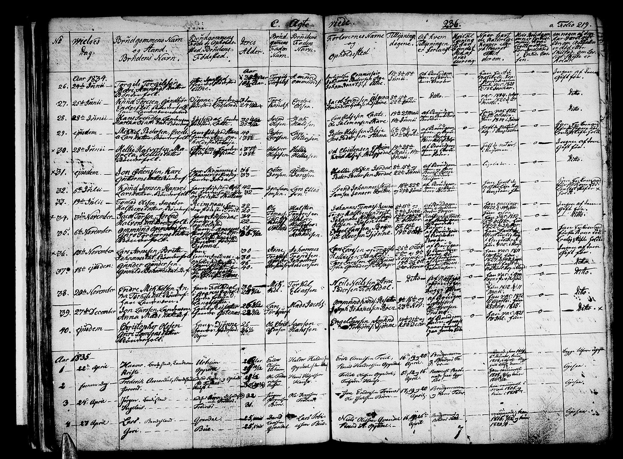 SAB, Ullensvang Sokneprestembete, H/Haa: Ministerialbok nr. A 10, 1825-1853, s. 236
