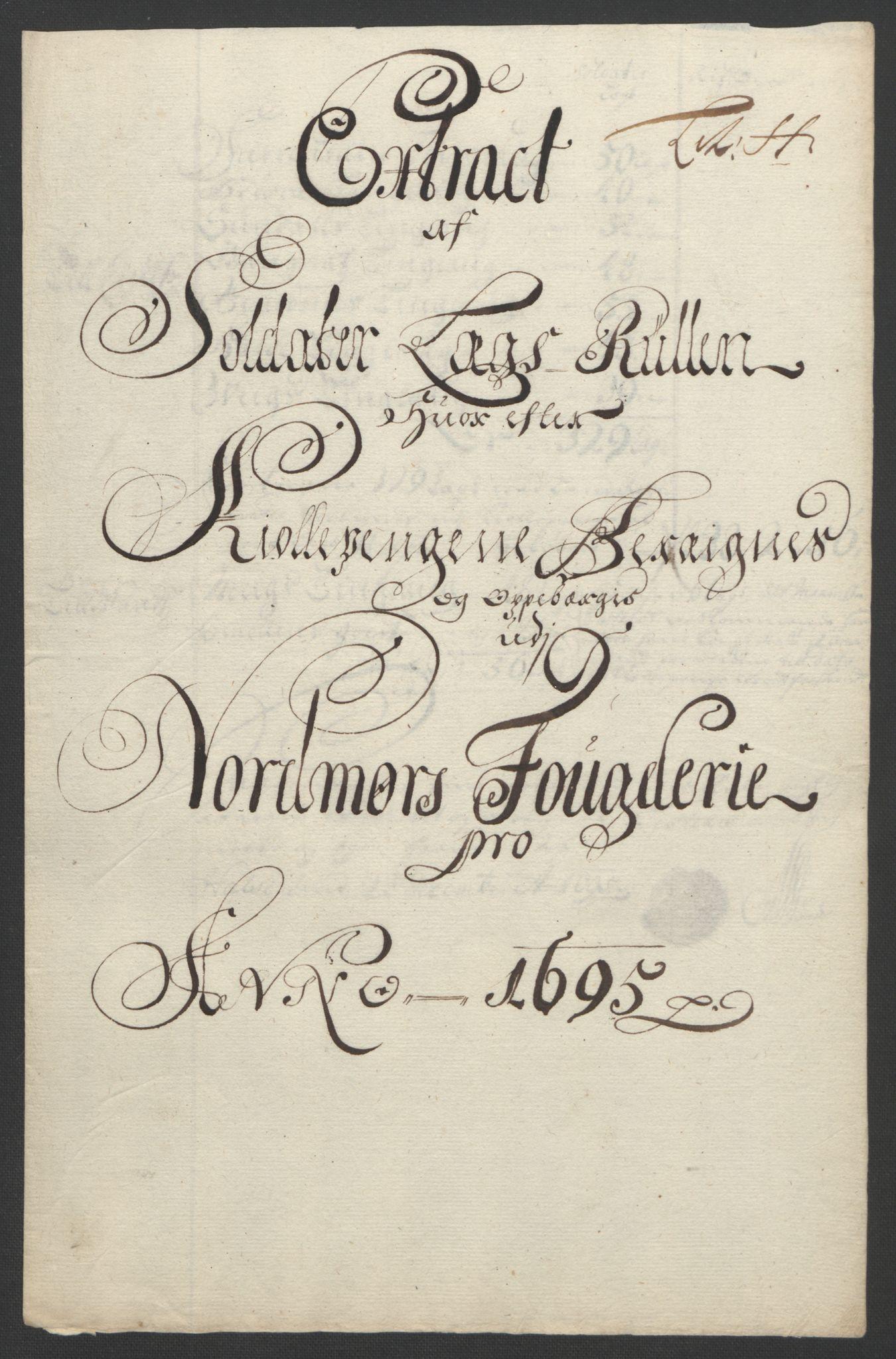 RA, Rentekammeret inntil 1814, Reviderte regnskaper, Fogderegnskap, R56/L3736: Fogderegnskap Nordmøre, 1694-1696, s. 276