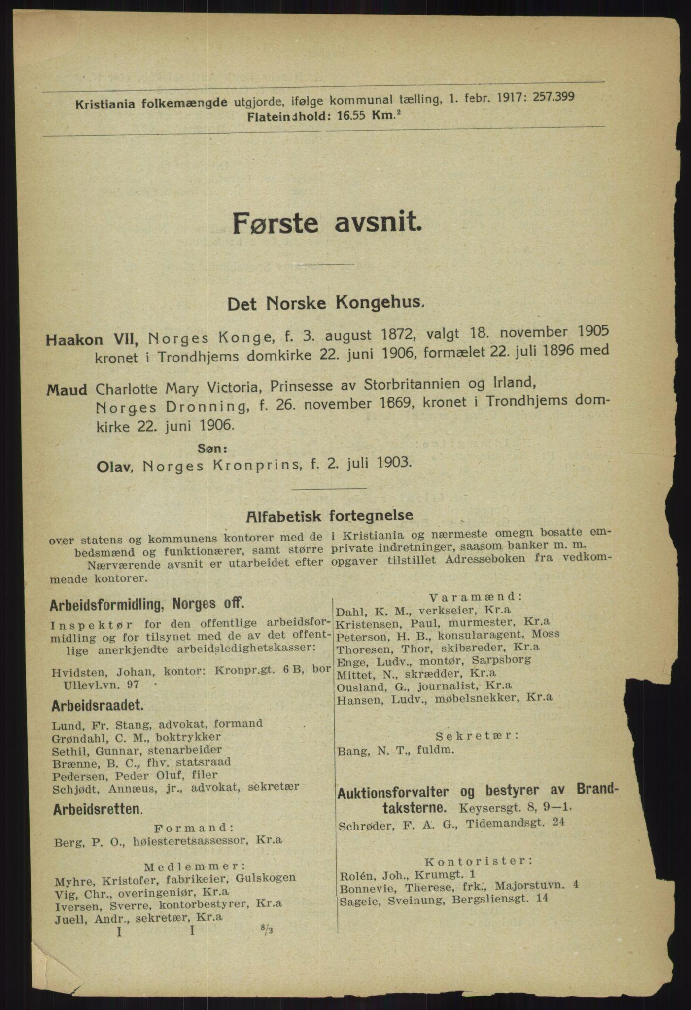 RA, Kristiania adressebok (publikasjon)*, 1918, s. 29