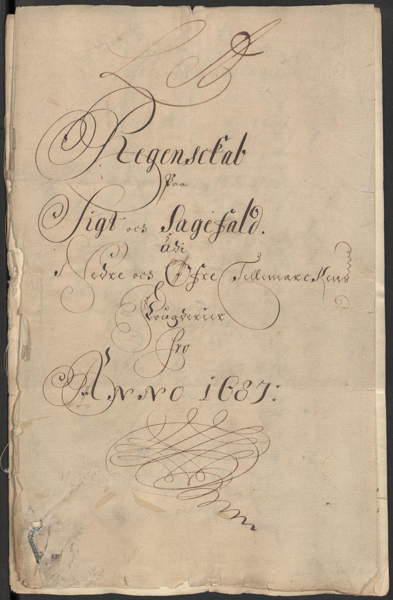 RA, Rentekammeret inntil 1814, Reviderte regnskaper, Fogderegnskap, R35/L2086: Fogderegnskap Øvre og Nedre Telemark, 1687-1689, s. 29