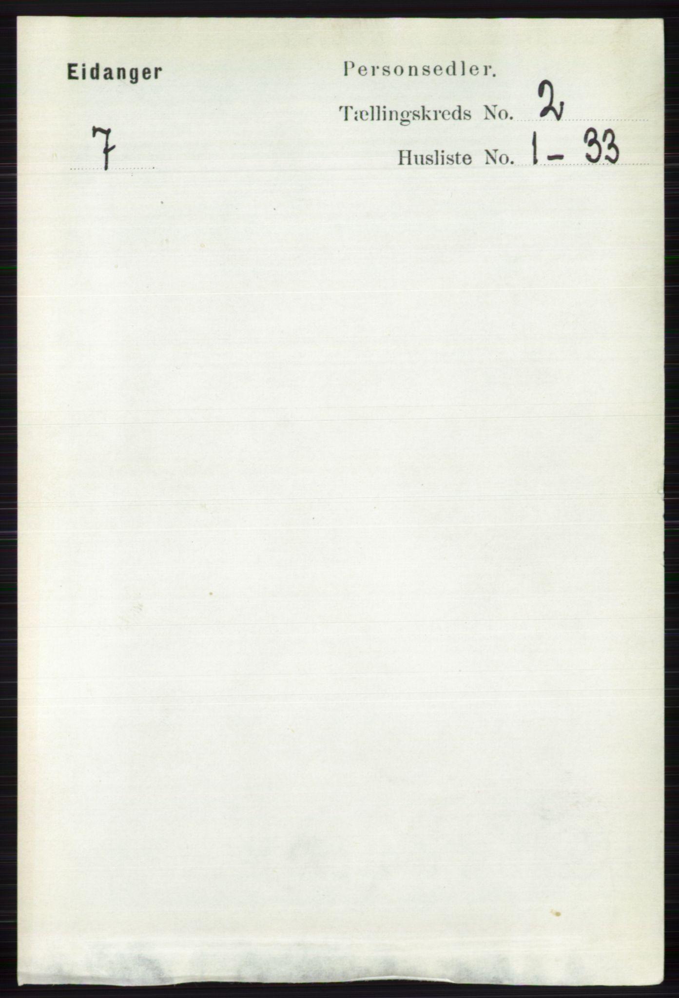 RA, Folketelling 1891 for 0813 Eidanger herred, 1891, s. 869