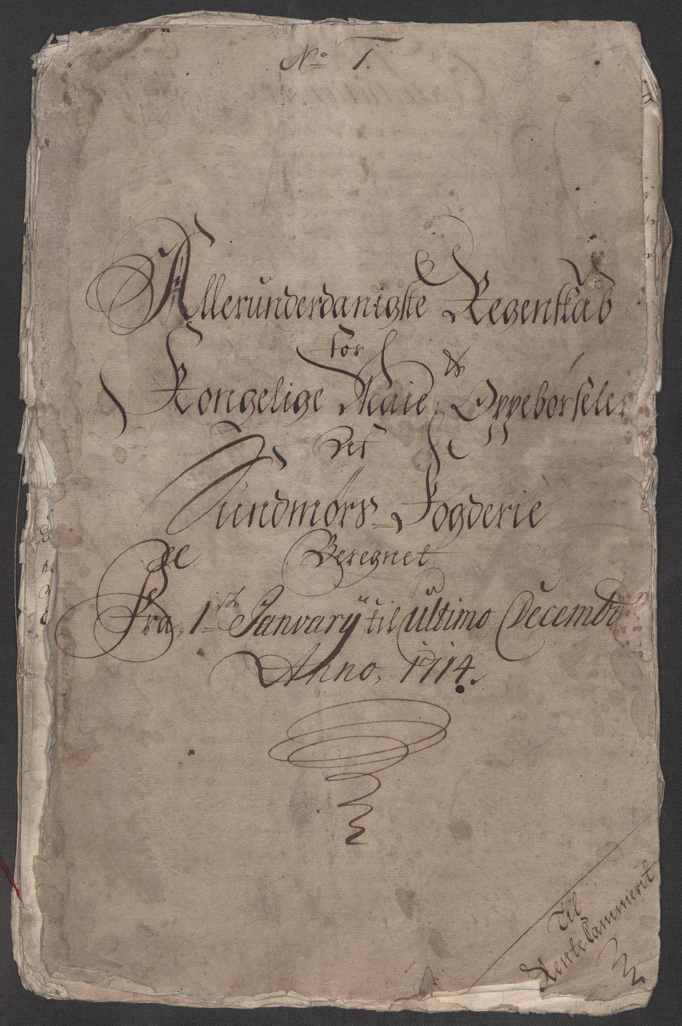 RA, Rentekammeret inntil 1814, Reviderte regnskaper, Fogderegnskap, R54/L3566: Fogderegnskap Sunnmøre, 1714, s. 4