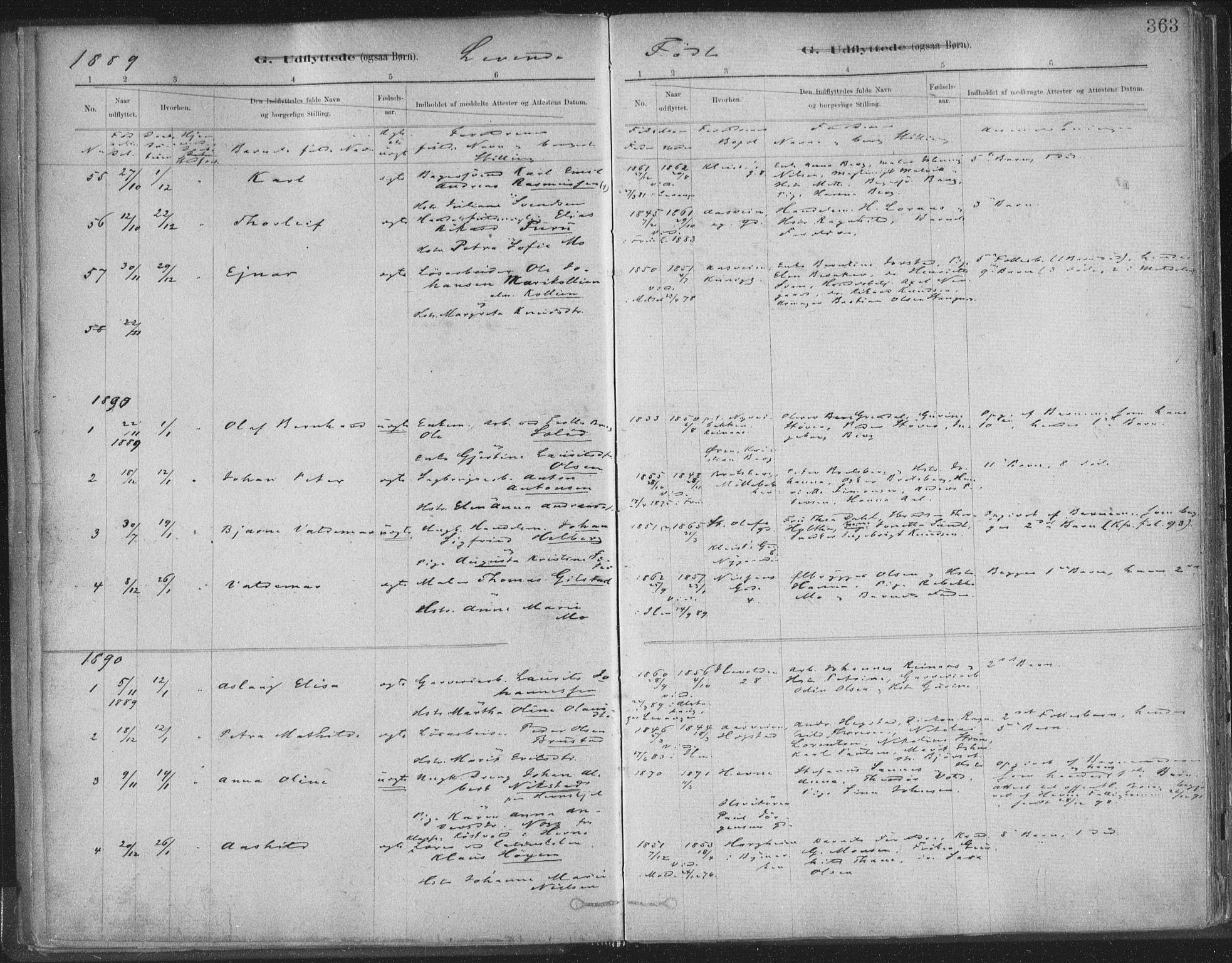 SAT, Ministerialprotokoller, klokkerbøker og fødselsregistre - Sør-Trøndelag, 603/L0163: Ministerialbok nr. 603A02, 1879-1895, s. 363