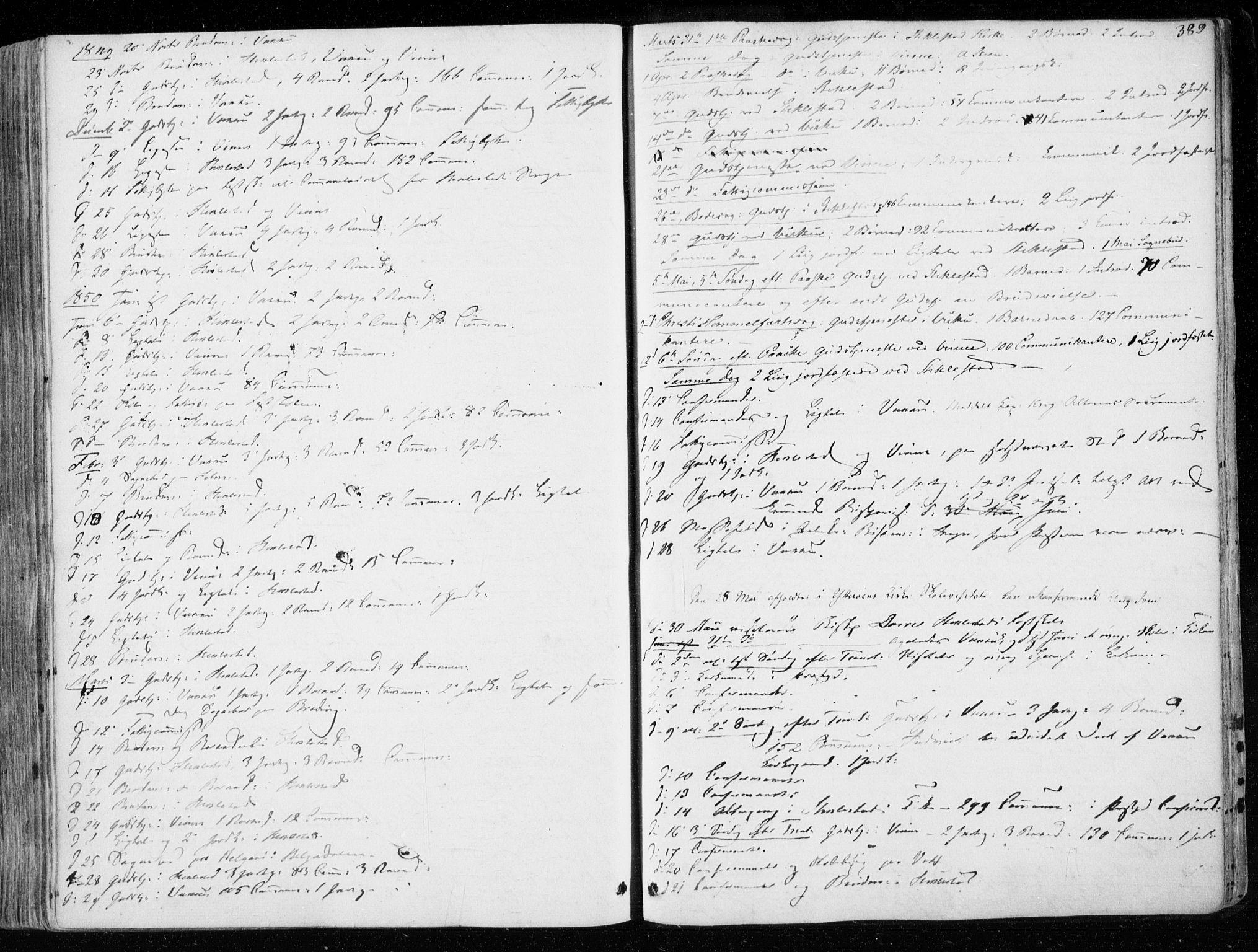 SAT, Ministerialprotokoller, klokkerbøker og fødselsregistre - Nord-Trøndelag, 723/L0239: Ministerialbok nr. 723A08, 1841-1851, s. 389
