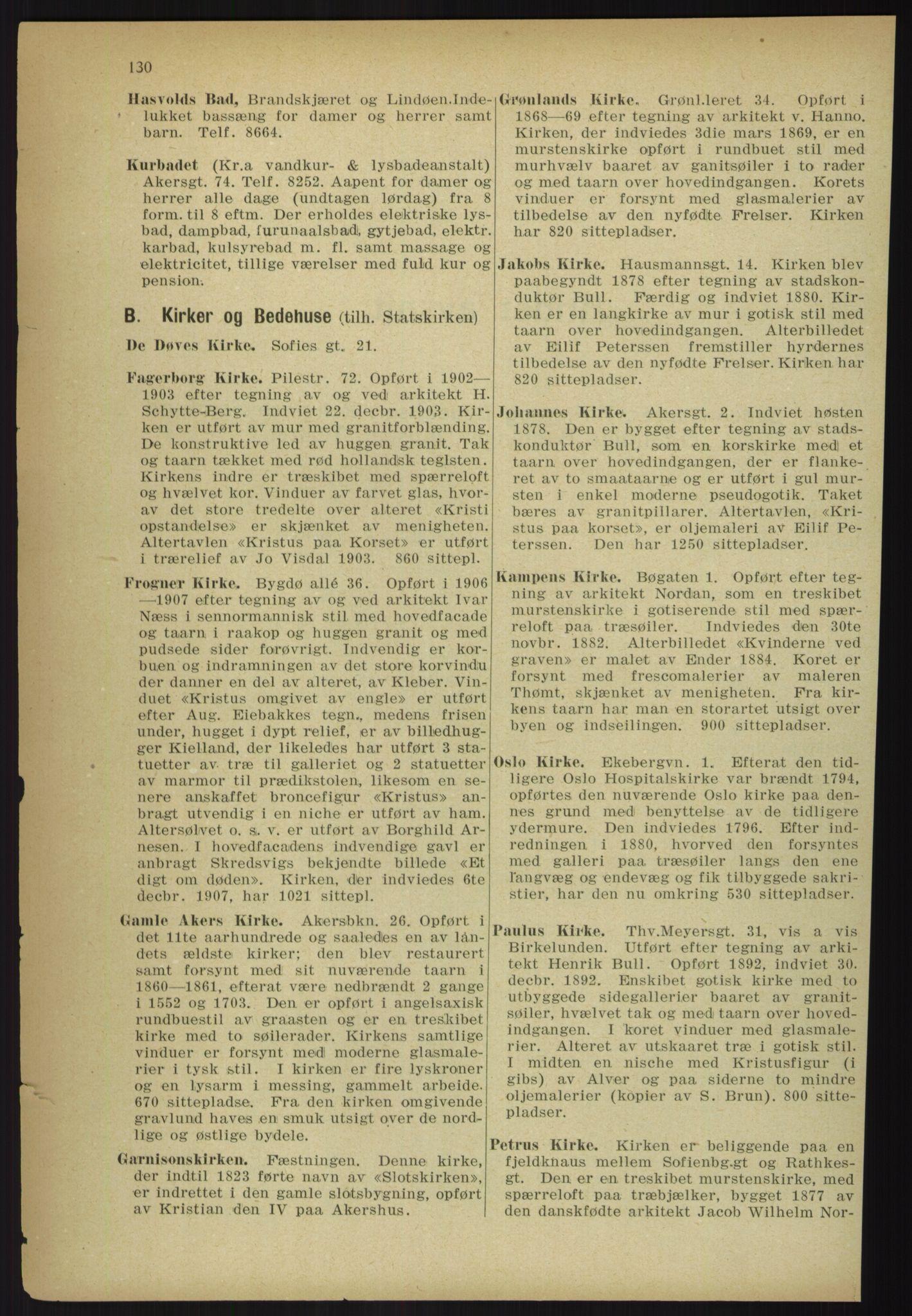 RA, Kristiania adressebok (publikasjon)*, 1918, s. 130