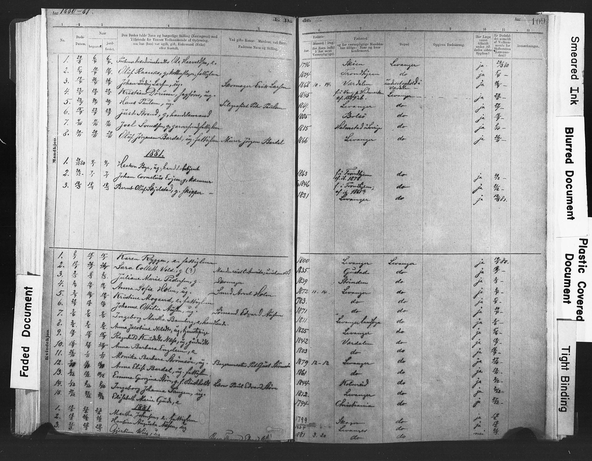 SAT, Ministerialprotokoller, klokkerbøker og fødselsregistre - Nord-Trøndelag, 720/L0189: Ministerialbok nr. 720A05, 1880-1911, s. 109