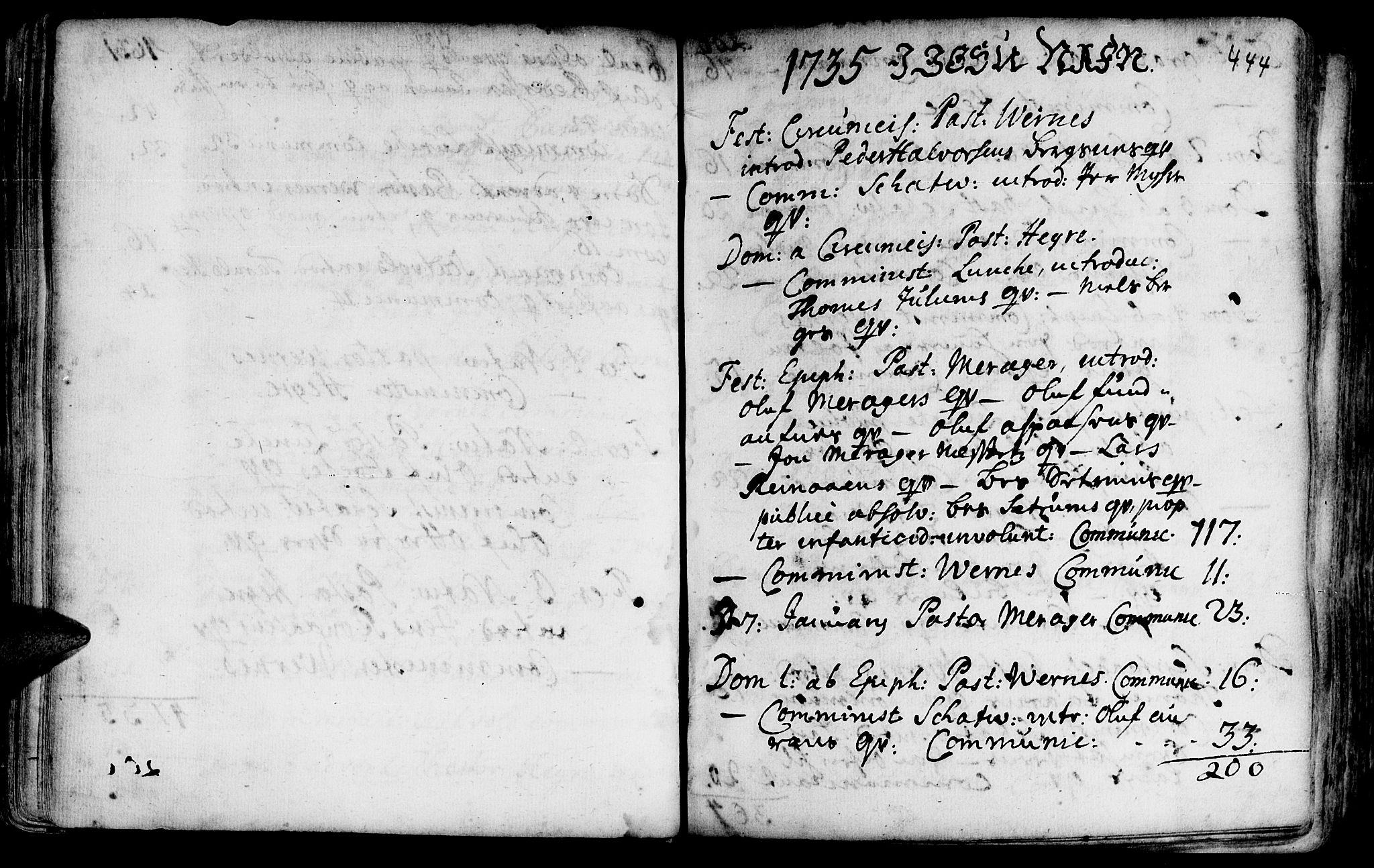 SAT, Ministerialprotokoller, klokkerbøker og fødselsregistre - Nord-Trøndelag, 709/L0054: Ministerialbok nr. 709A02, 1714-1738, s. 443-444
