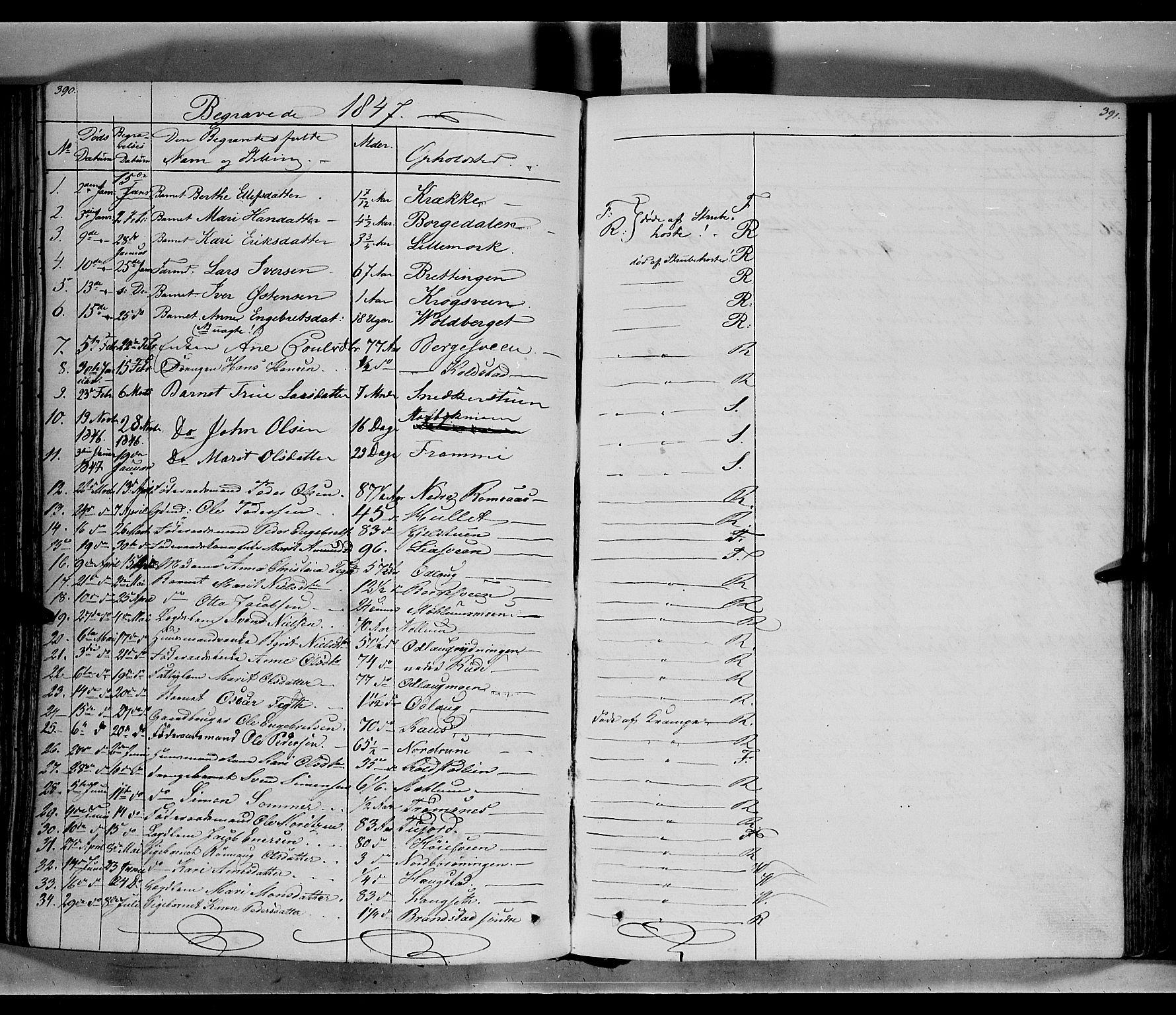SAH, Ringebu prestekontor, Ministerialbok nr. 5, 1839-1848, s. 390-391