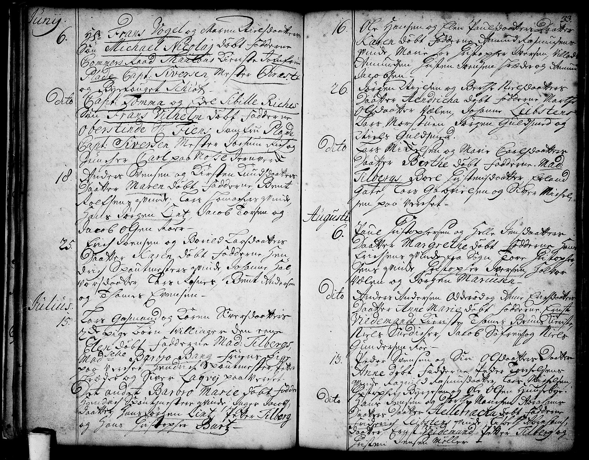 SAO, Moss prestekontor Kirkebøker, F/Fa/Faa/L0001: Ministerialbok nr. I 1, 1725-1752, s. 33