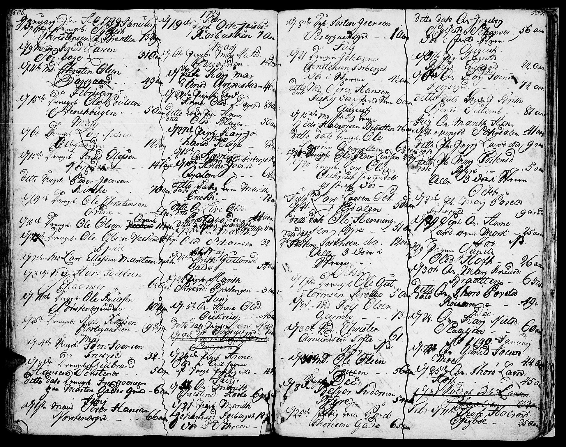 SAH, Lom prestekontor, K/L0002: Ministerialbok nr. 2, 1749-1801, s. 506-507