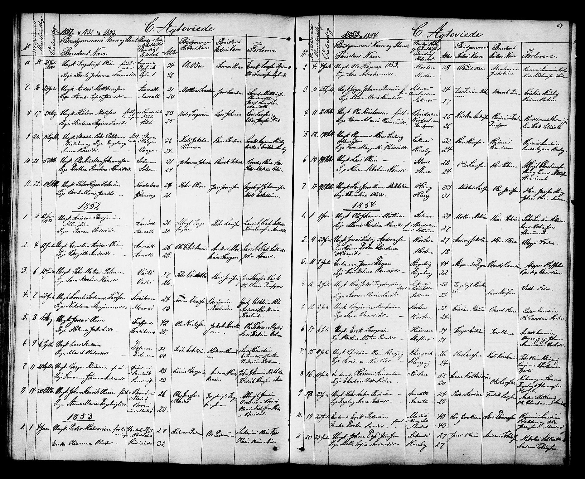 SAT, Ministerialprotokoller, klokkerbøker og fødselsregistre - Nord-Trøndelag, 788/L0695: Ministerialbok nr. 788A02, 1843-1862, s. 63
