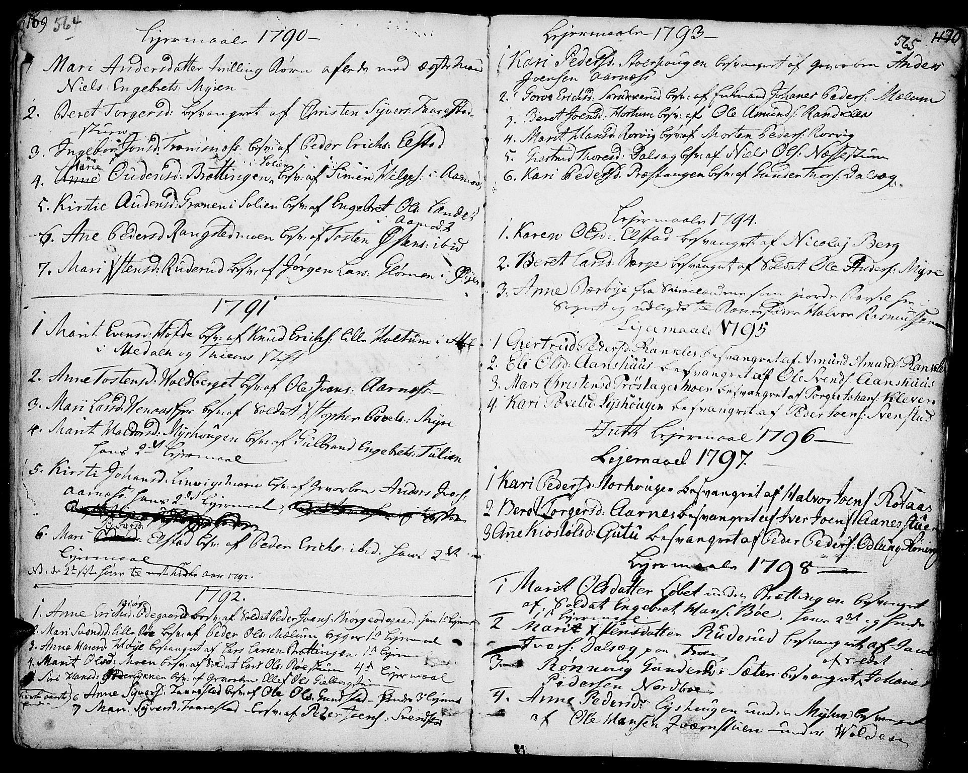 SAH, Ringebu prestekontor, Ministerialbok nr. 3, 1781-1820, s. 564-565