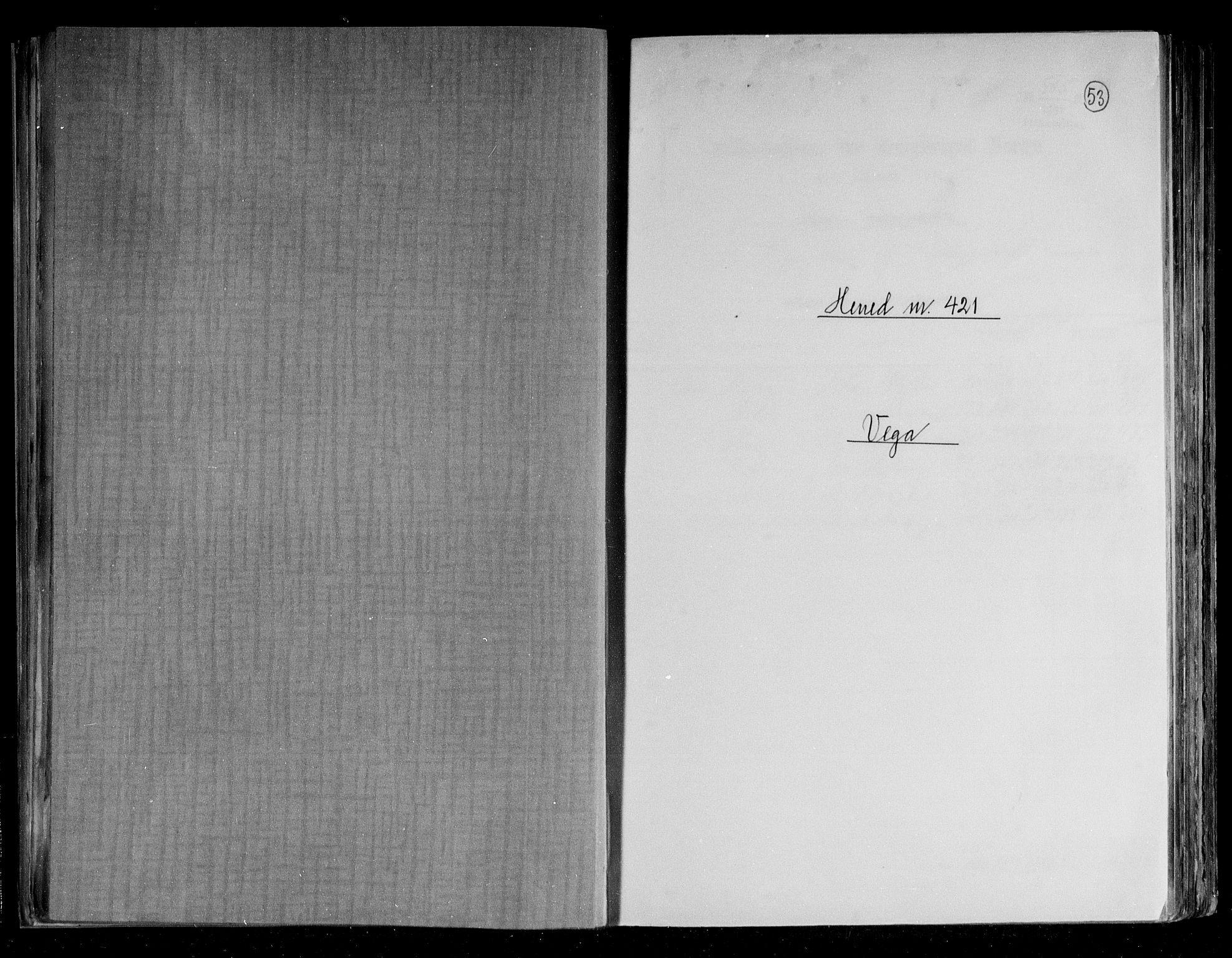 RA, Folketelling 1891 for 1815 Vega herred, 1891, s. 1